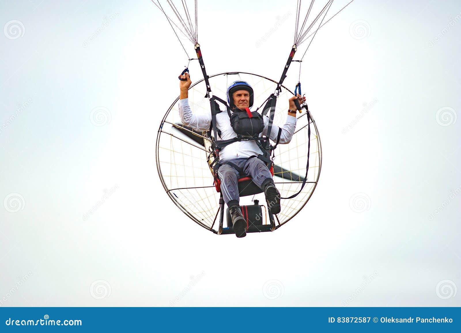 Bila Tserkva, Ukraine  June 20, 2016 Paragliding, Training