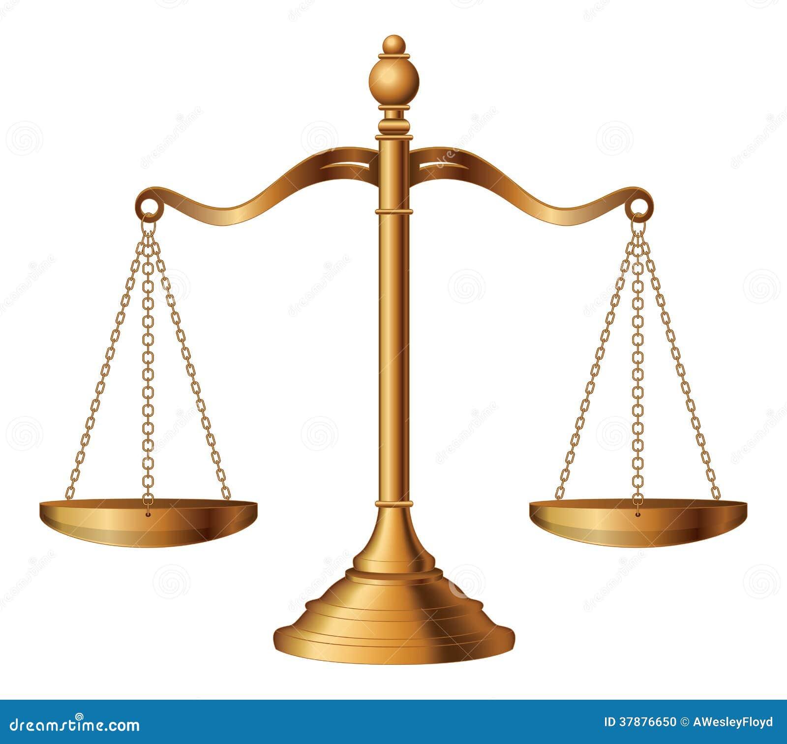 Bilancia della giustizia illustrazione vettoriale illustrazione di simbolo 37876650 - Immagini di scale ...