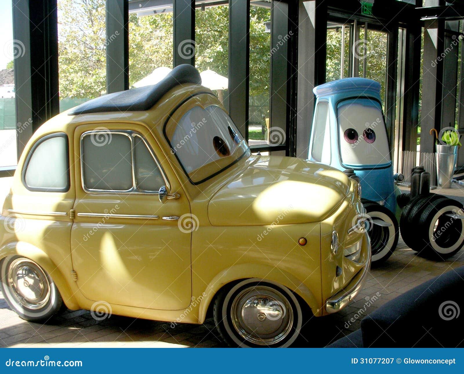 Bilanimeringtecken från den pixar studiofilmen