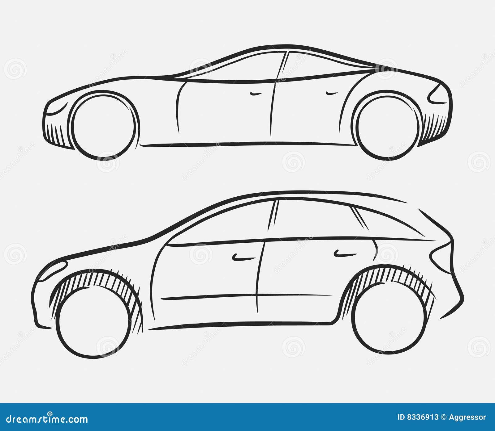 Bilar tecknad hand vektor illustrationer bild av gr tt for 3d sketch online free