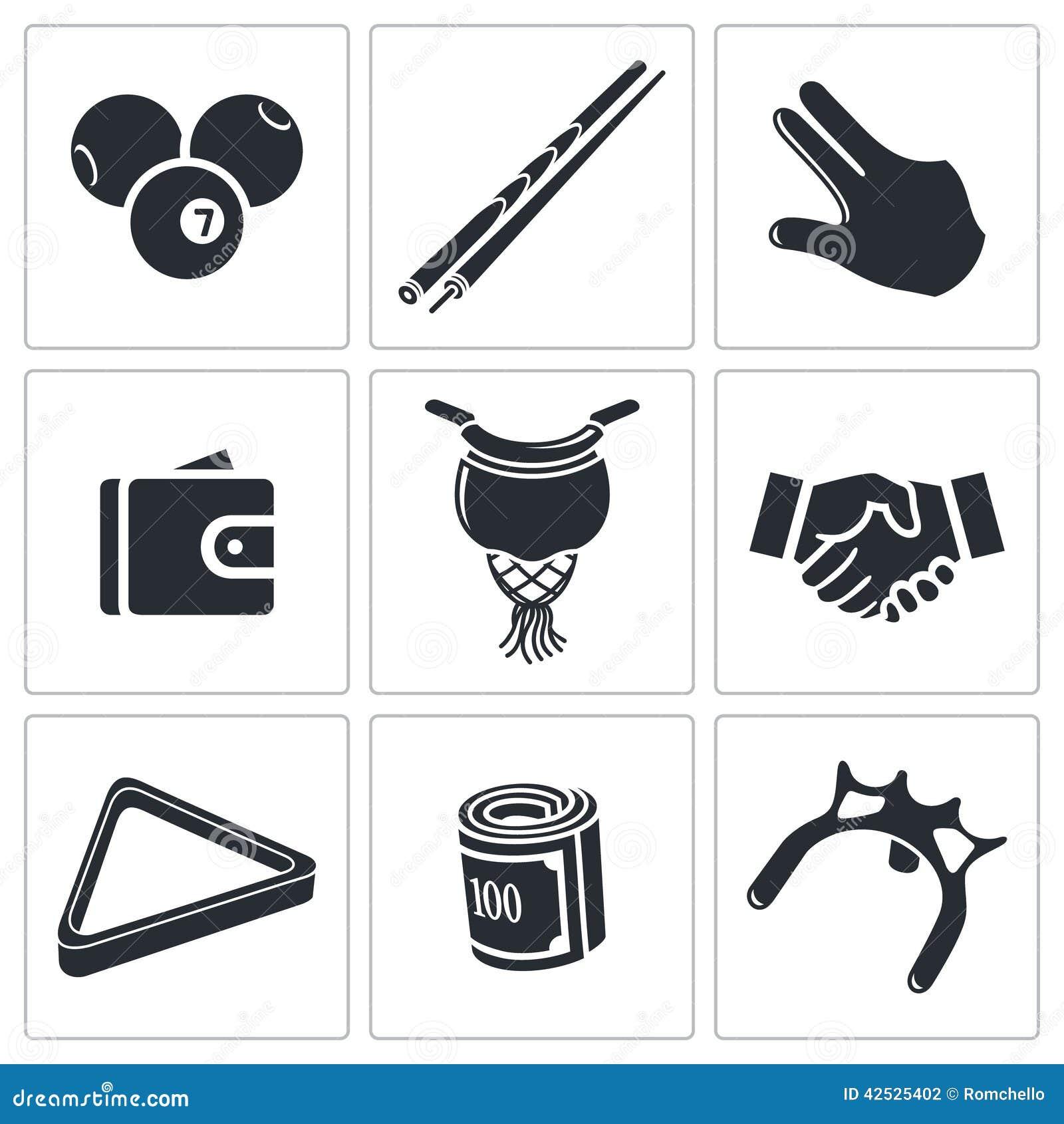 Bilardowe ikony ustawiać