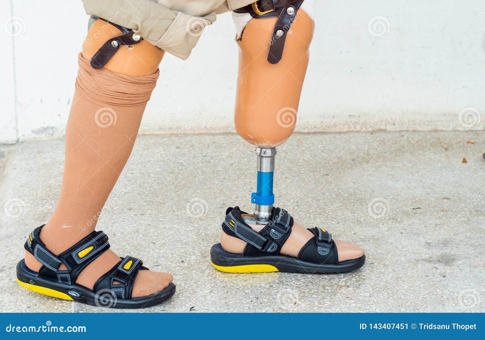 Bilateral amputee walking
