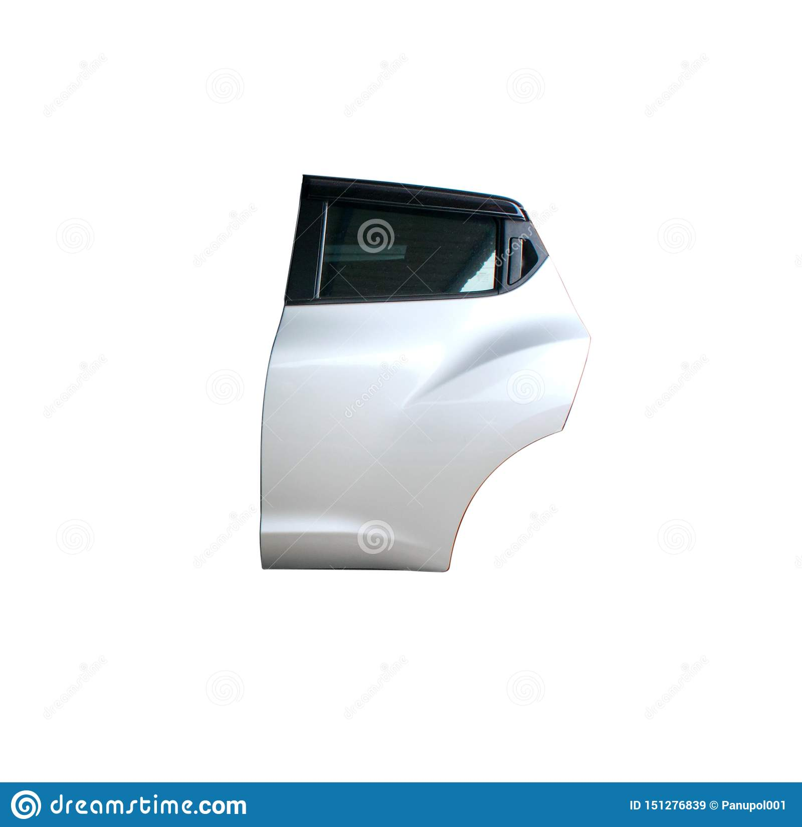 Bilbakdörr på isolerad bakgrund