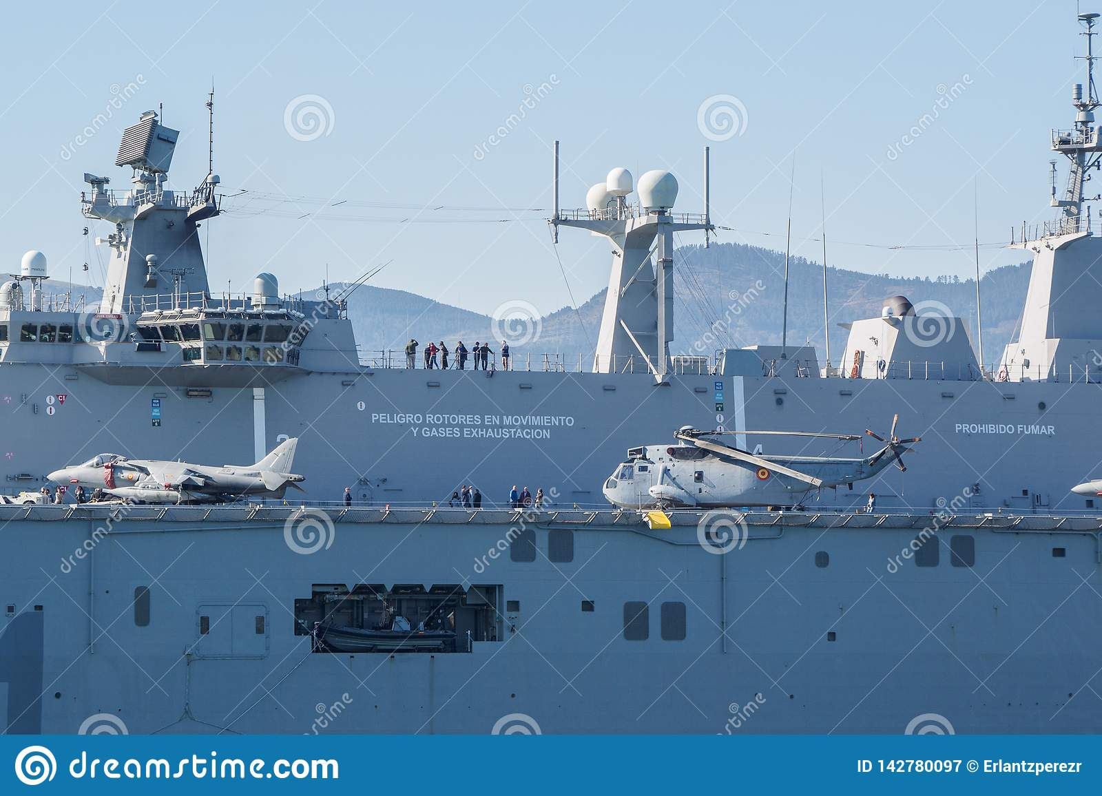 BILBAO, SPAIN - MARCH / 23/2019. The Aircraft Carrier Of ...Spanish Aircraft Carriers 2019
