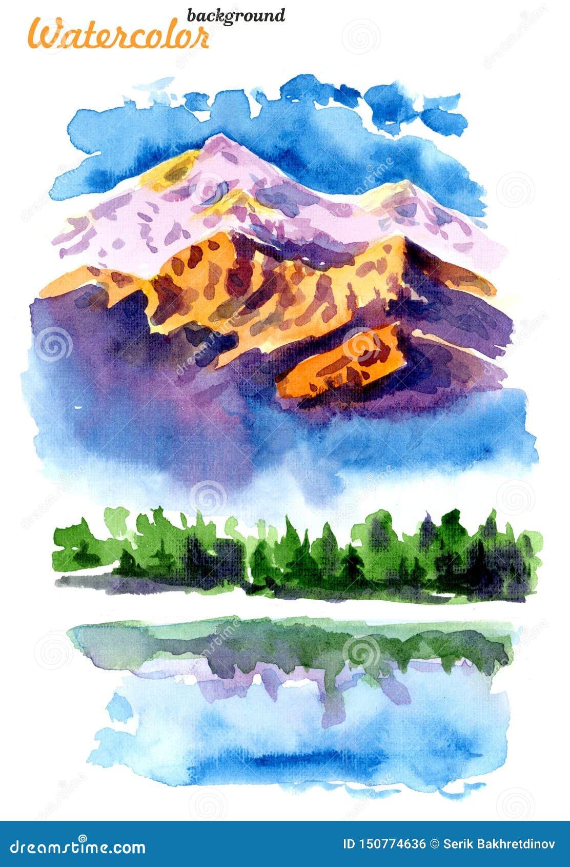 Bild av berg och sjöar