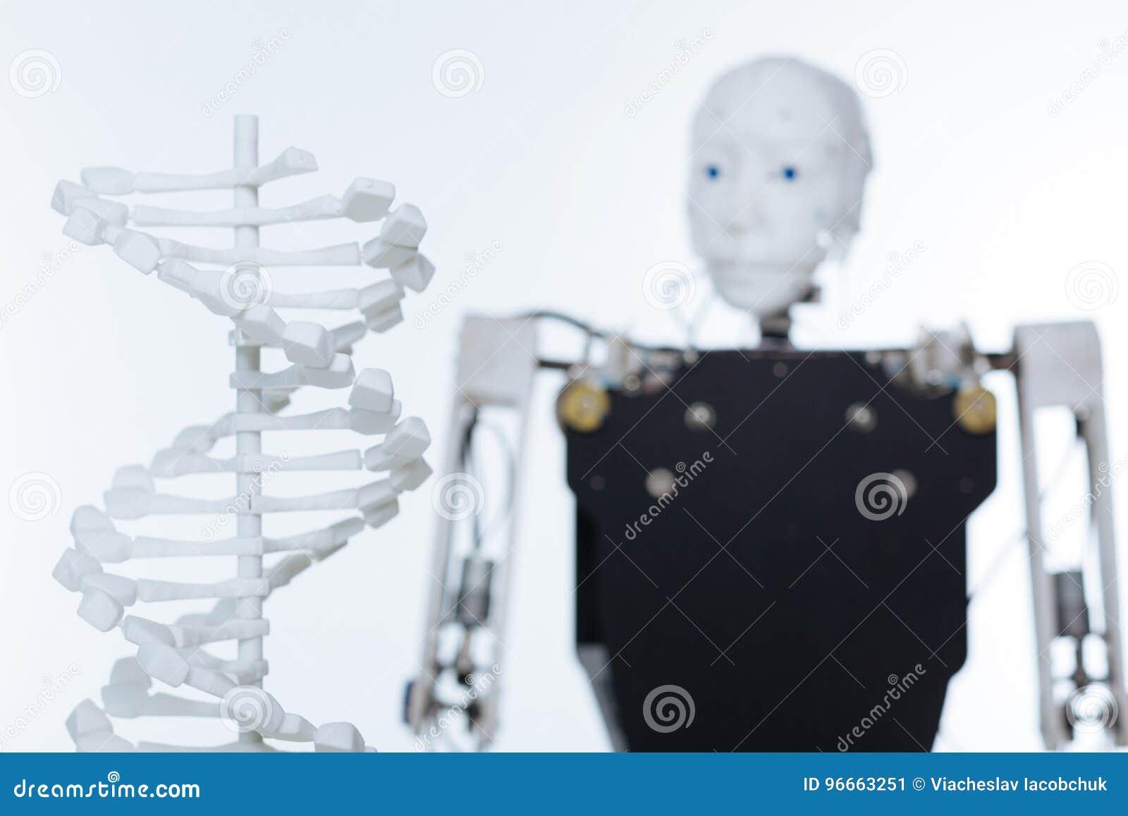 Bild av modellen av det mänskliga DNA:t