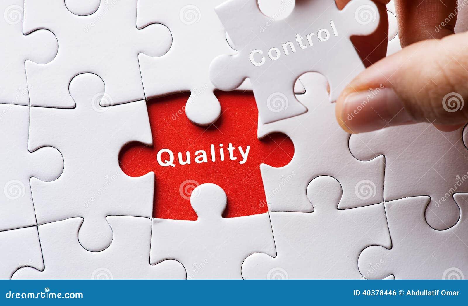 Bild des Puzzlespiels mit Qualitätskontrolle