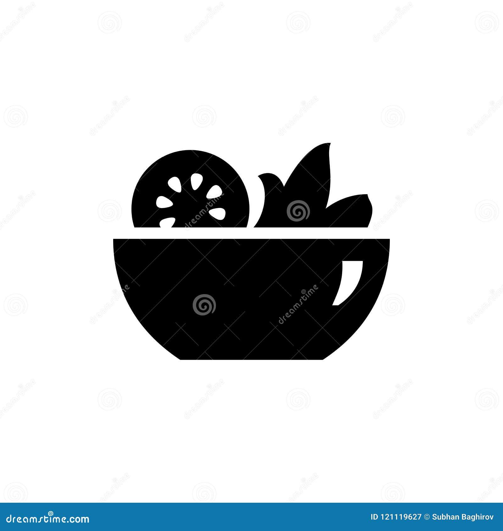 Bild för illustration för stil för salladsymbol enkel plan