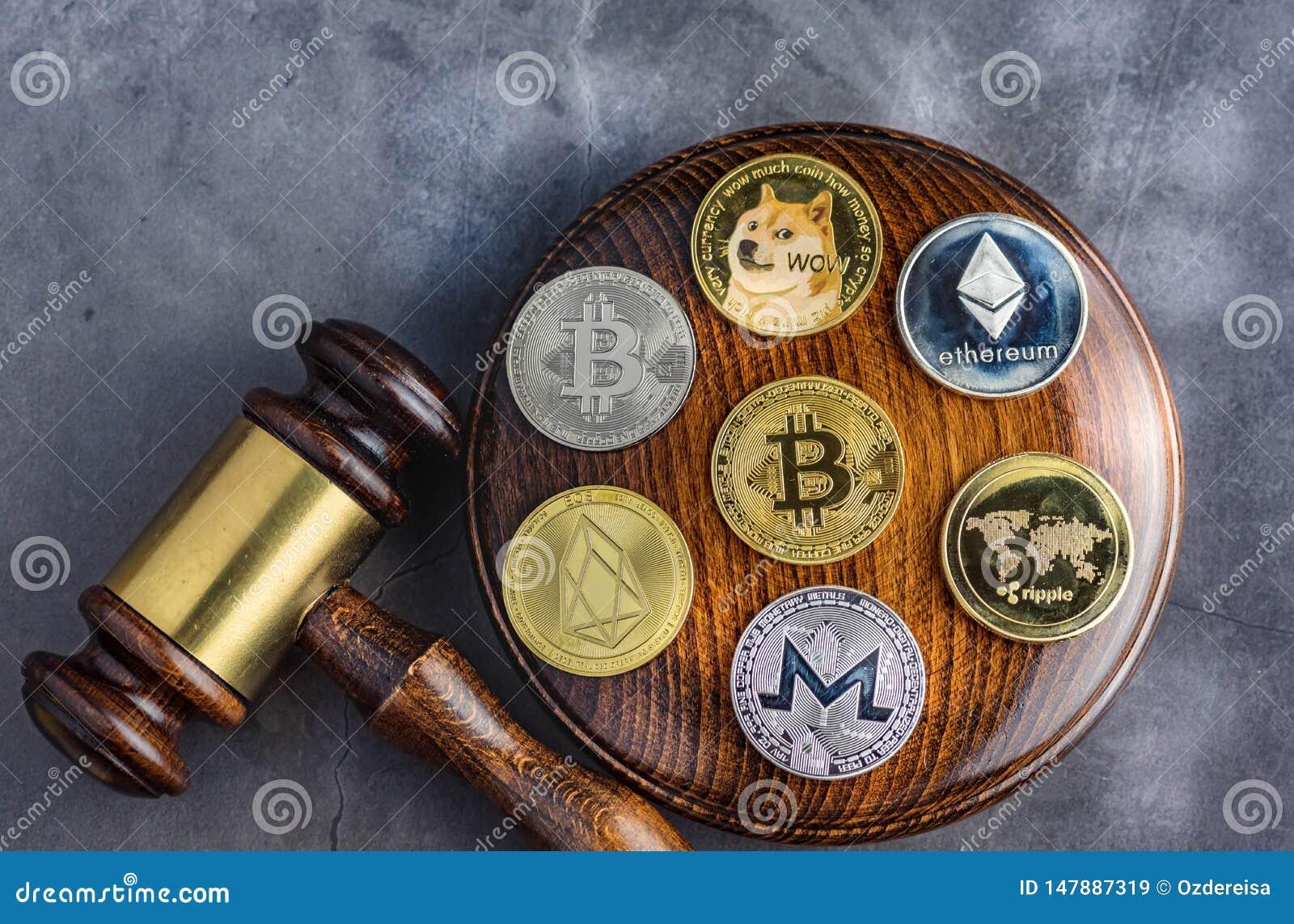 Bild f?r begreppslagdomare f?r cryptocurrency