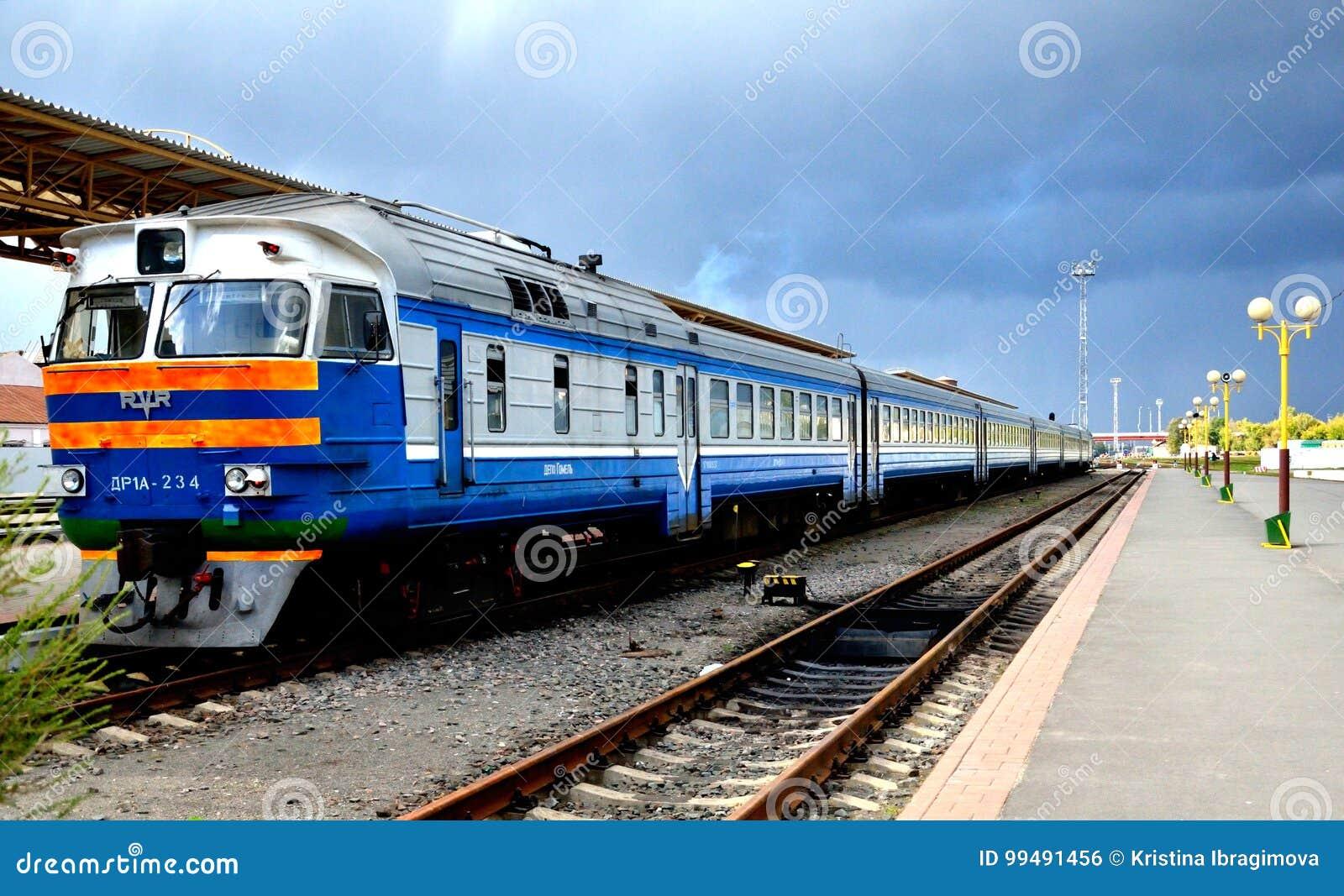 Bilden Sie am Bahnhof, Gomel, Weißrussland aus
