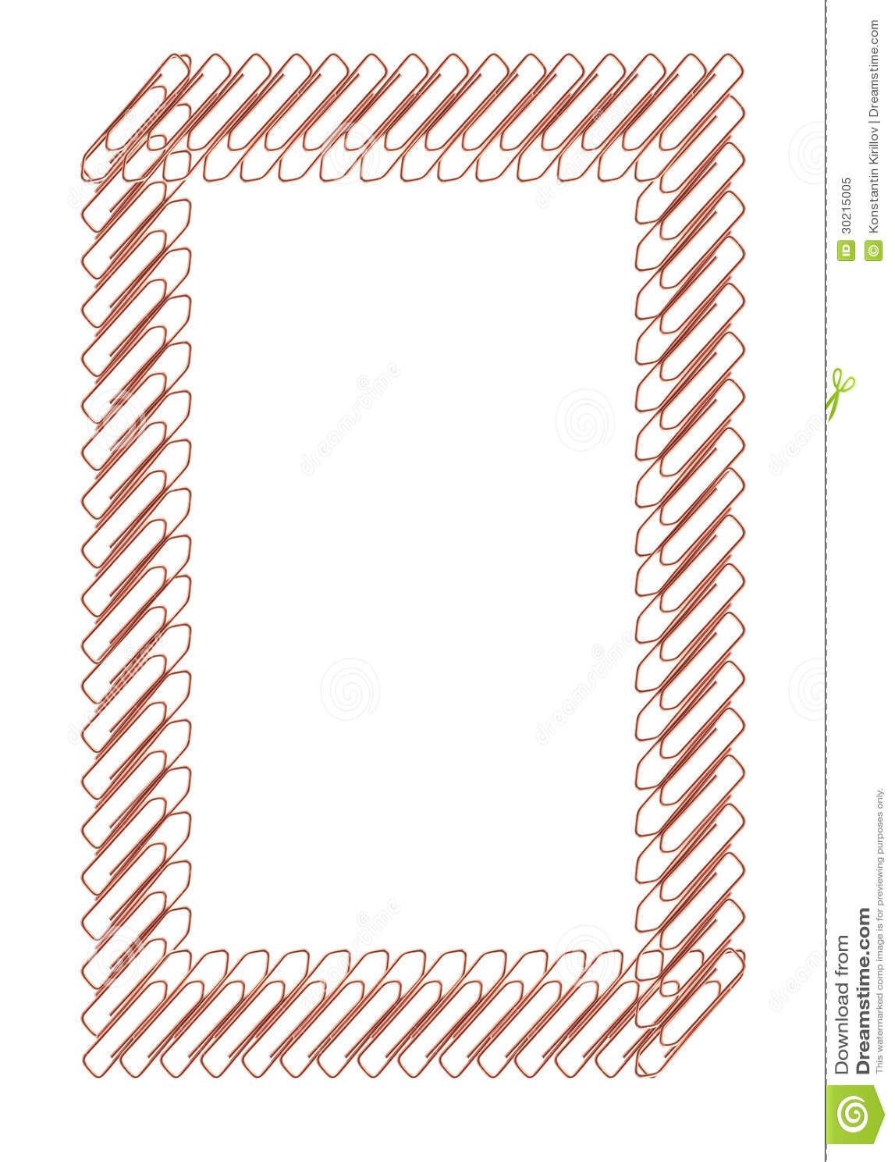 Büroklammer-Rahmen stockbild. Bild von abbildung, hilfsmittel - 30215005