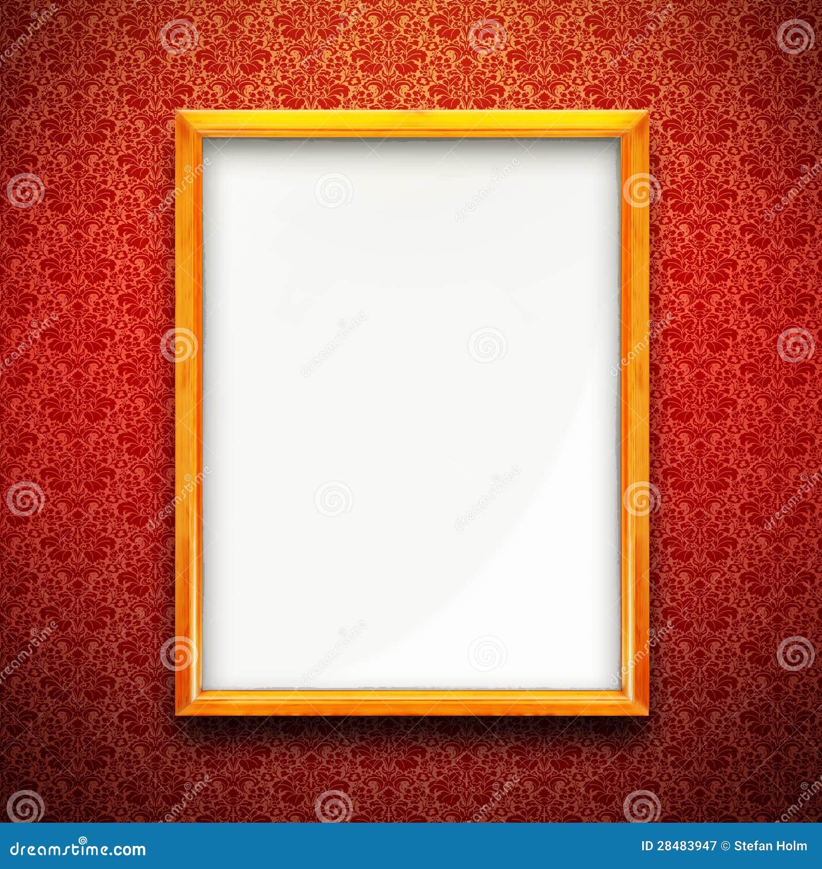 Bilderrahmen Auf Roter Tapete Stock Abbildung - Illustration von ...