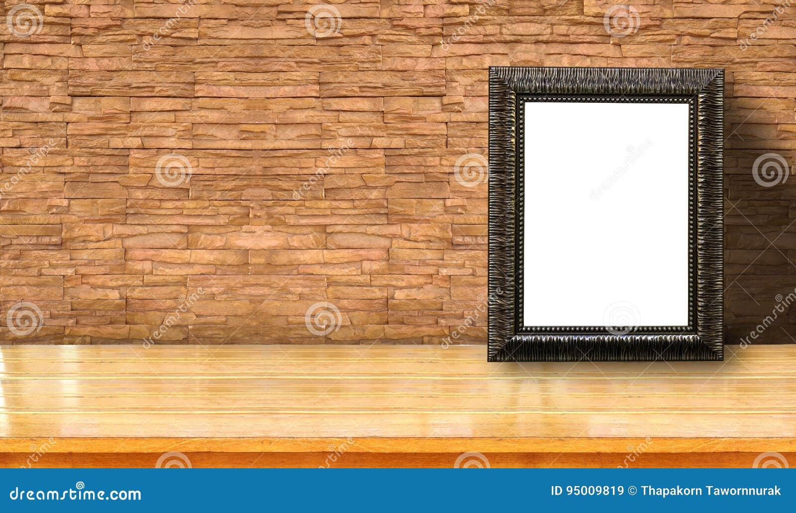 Bilderrahmen Auf Ziegelstein Stockbild - Bild von hängen, abbildung ...