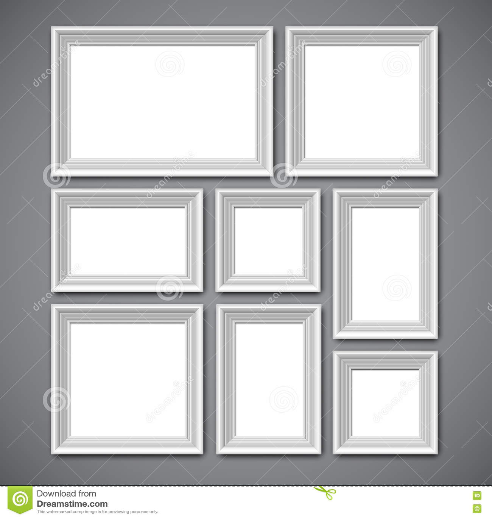 Bilderrahmen-Collage vektor abbildung. Illustration von galerie ...