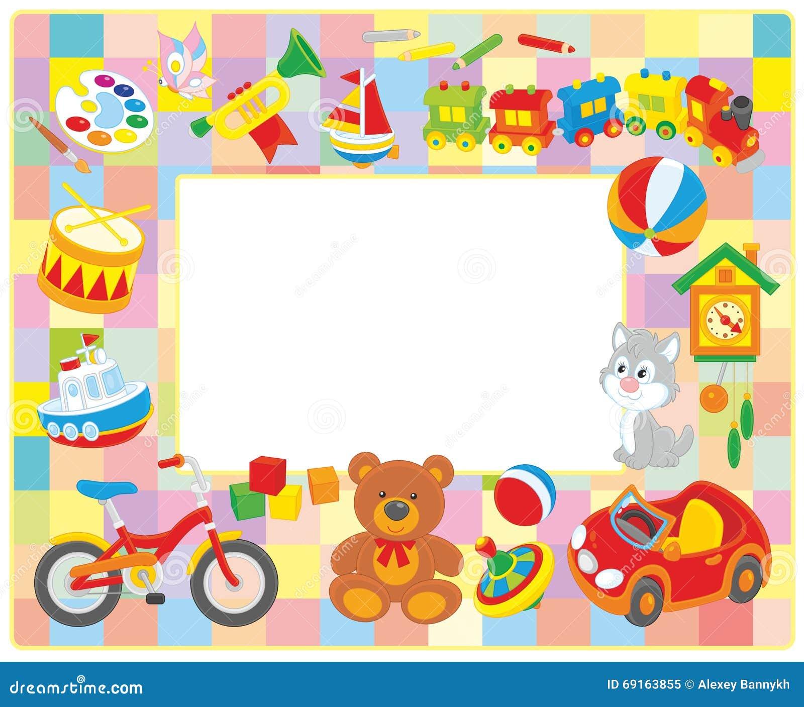 Bilderrahmen der Kinder vektor abbildung. Illustration von ...