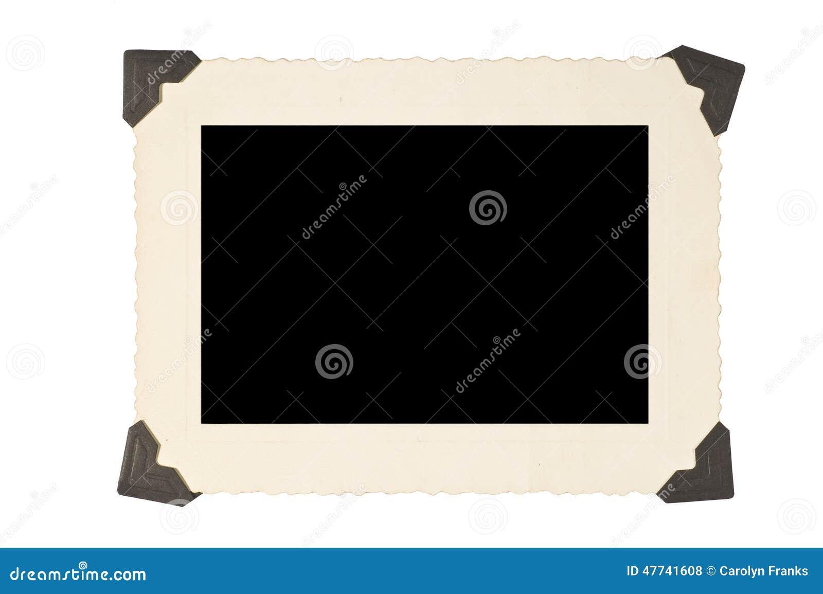 Bilderrahmen Mit Ecken Auf Weißem Hintergrund Stockfoto - Bild von ...