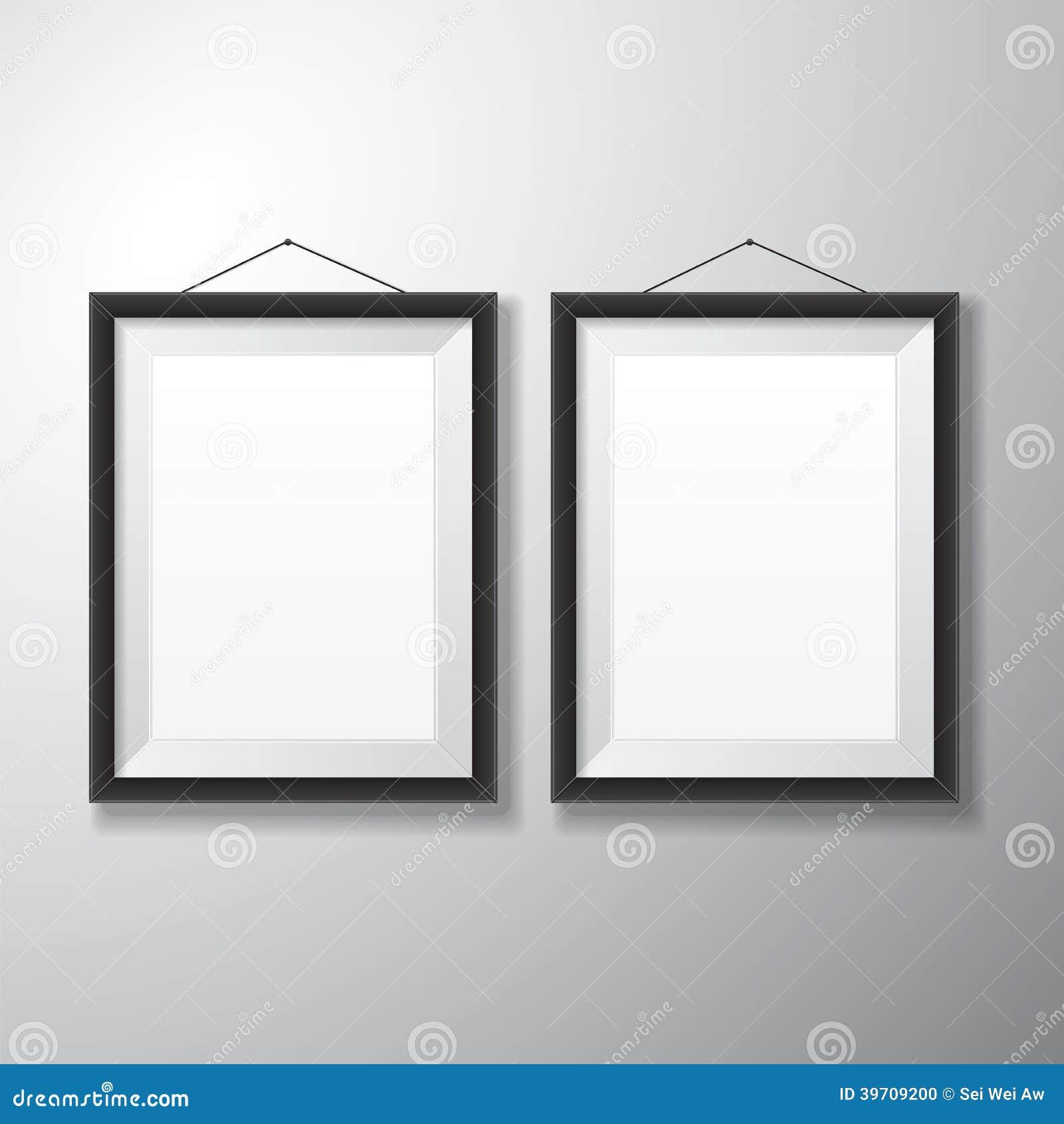 Bilderrahmen-Schwarz-Vertikale Stock Abbildung - Illustration von ...