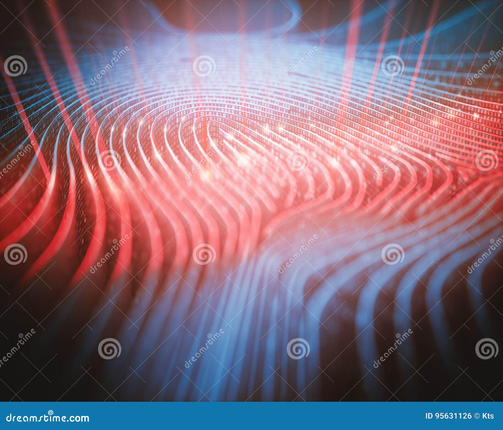 Bildläsare för binär kod för fingeravtryck