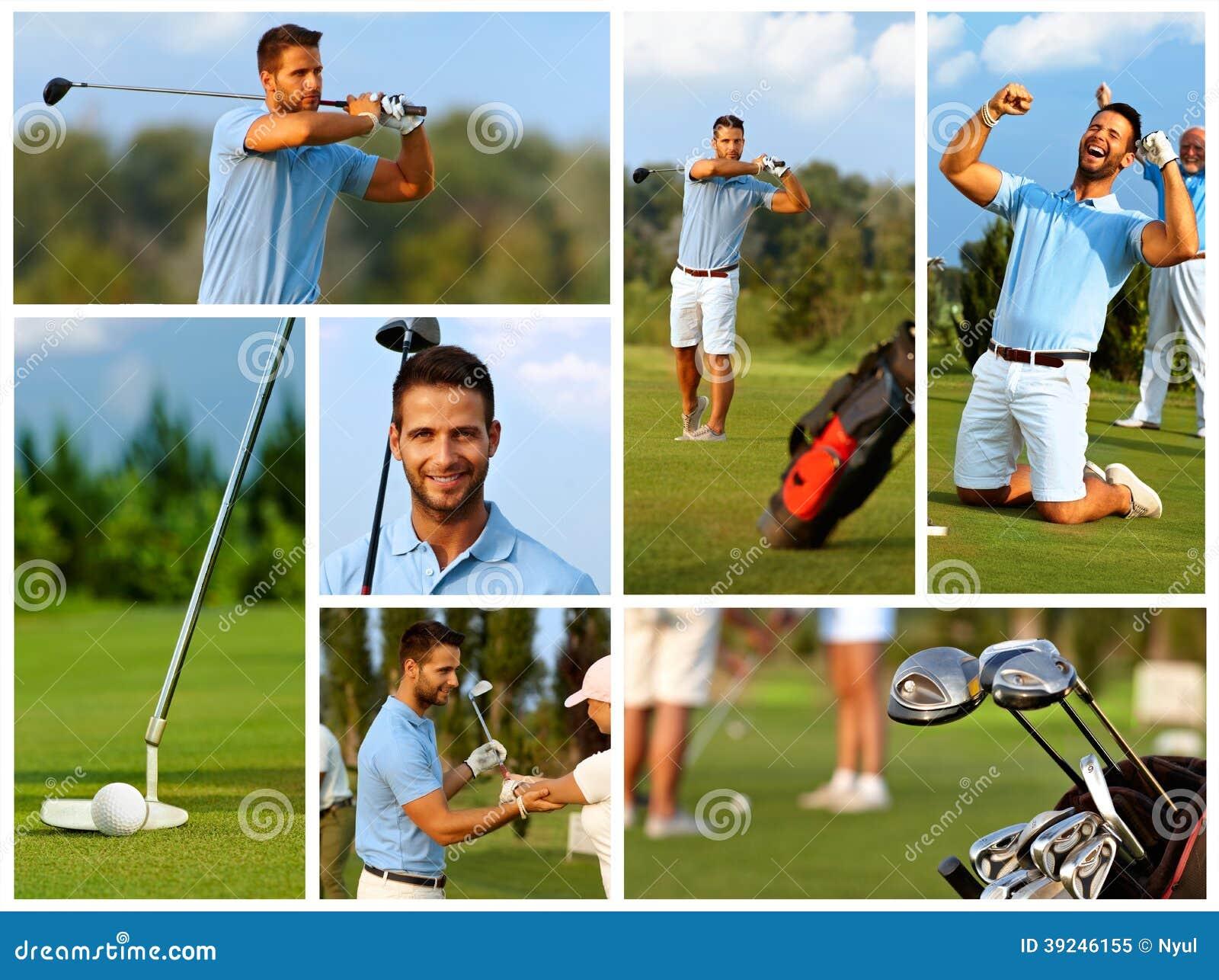 Bildmosaik av golf