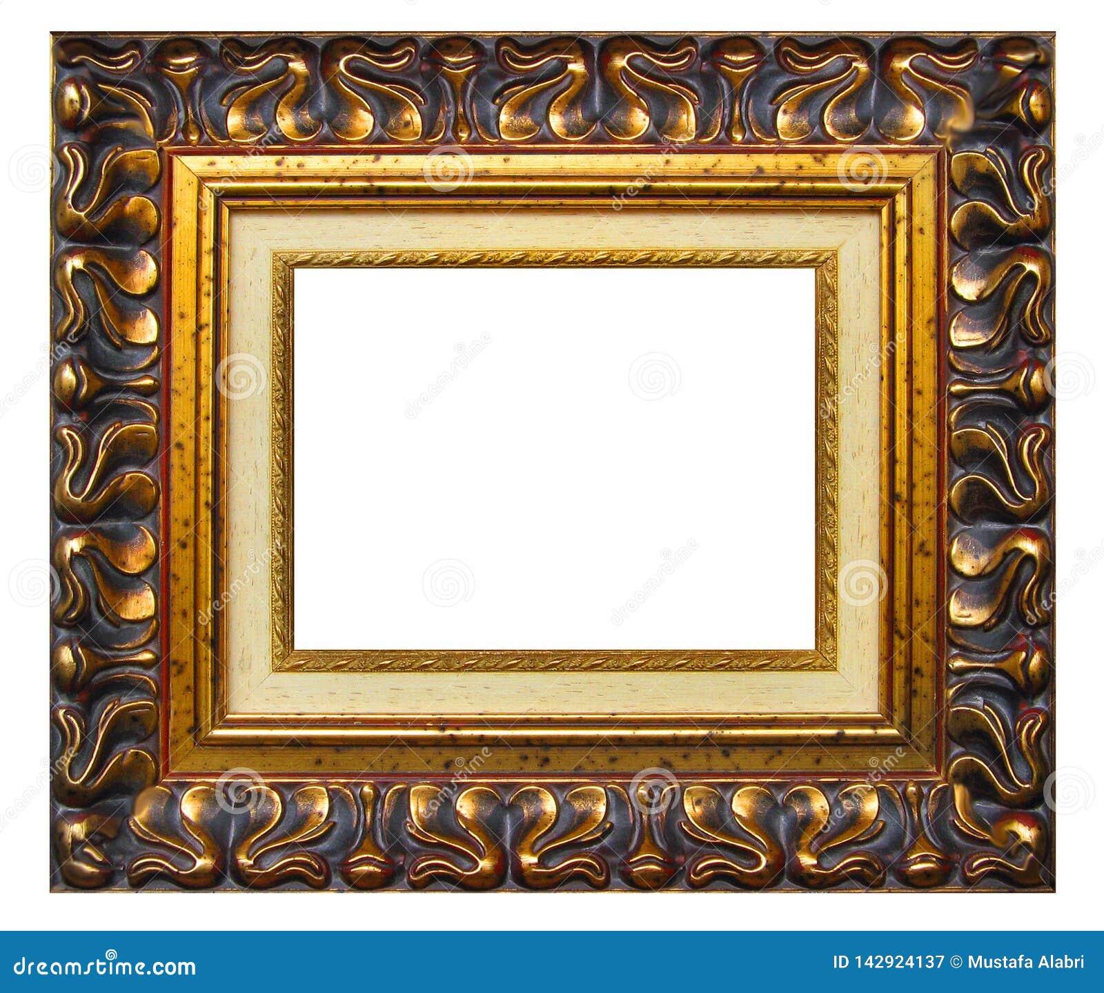 Bildram och vit bakgrund