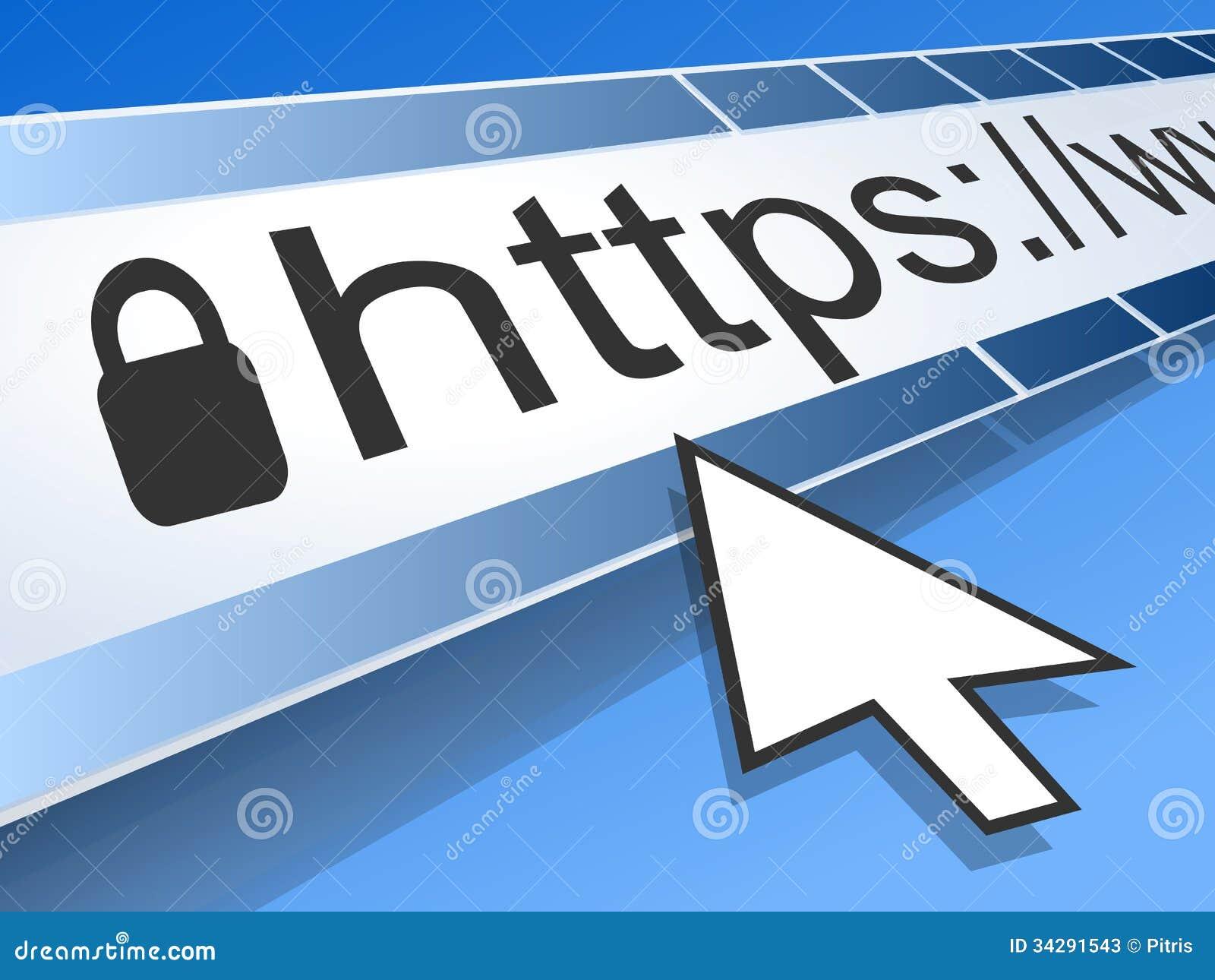 Bildschirm mit Adresszeile web browser