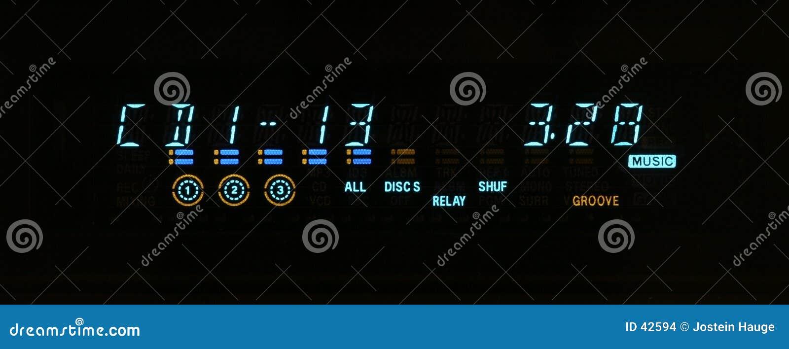 Download Bildschirmanzeige stockfoto. Bild von musik, spiel, digits - 42594