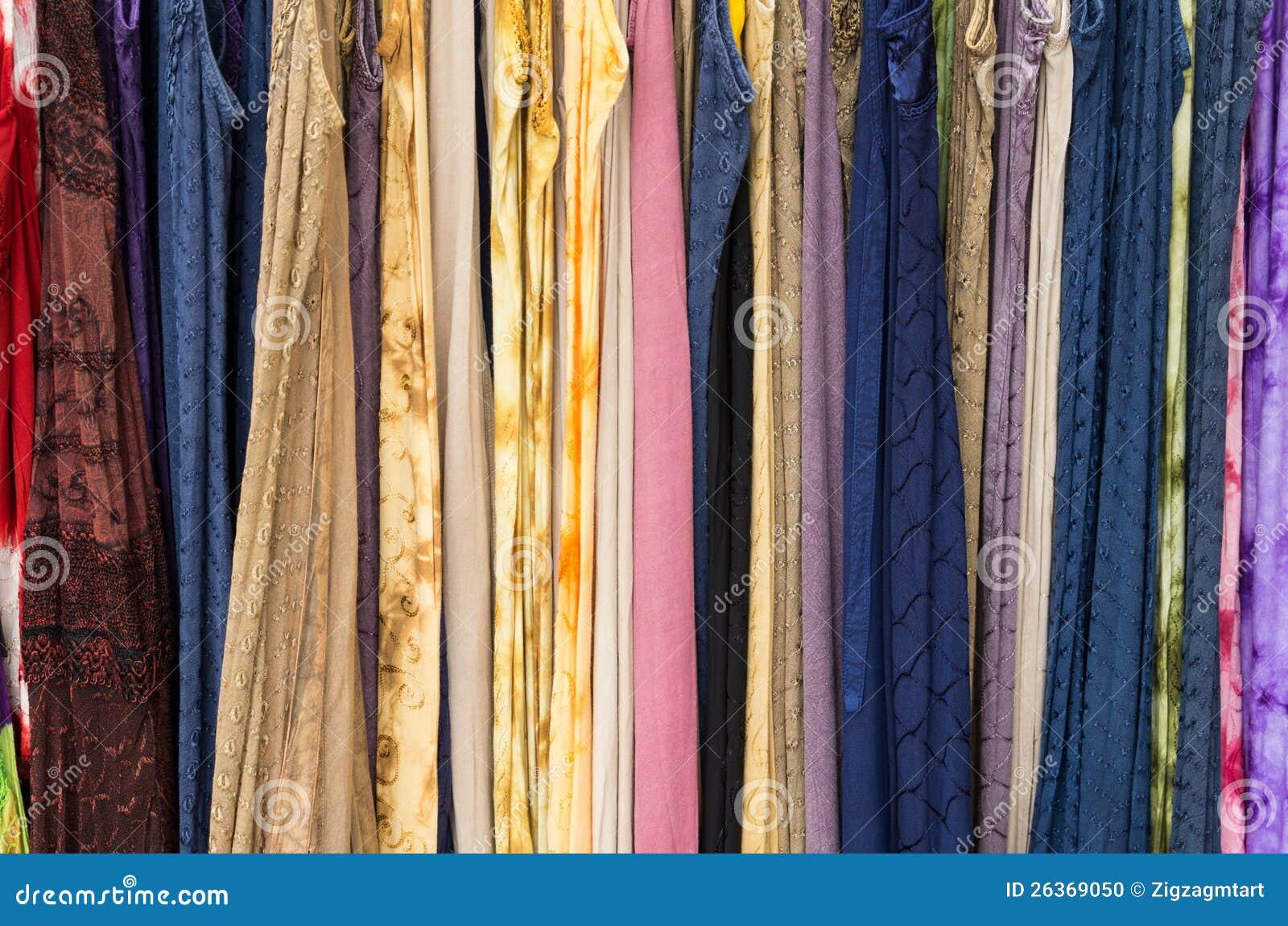 Bildschirmanzeige des Gewebes vieler Farben