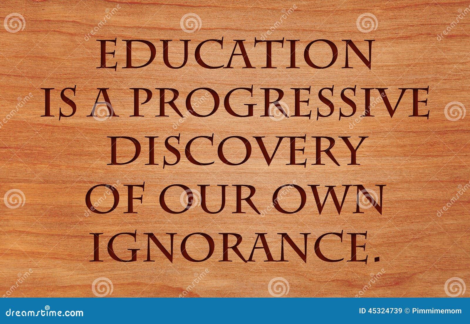 Bildung ist eine progressive Entdeckung
