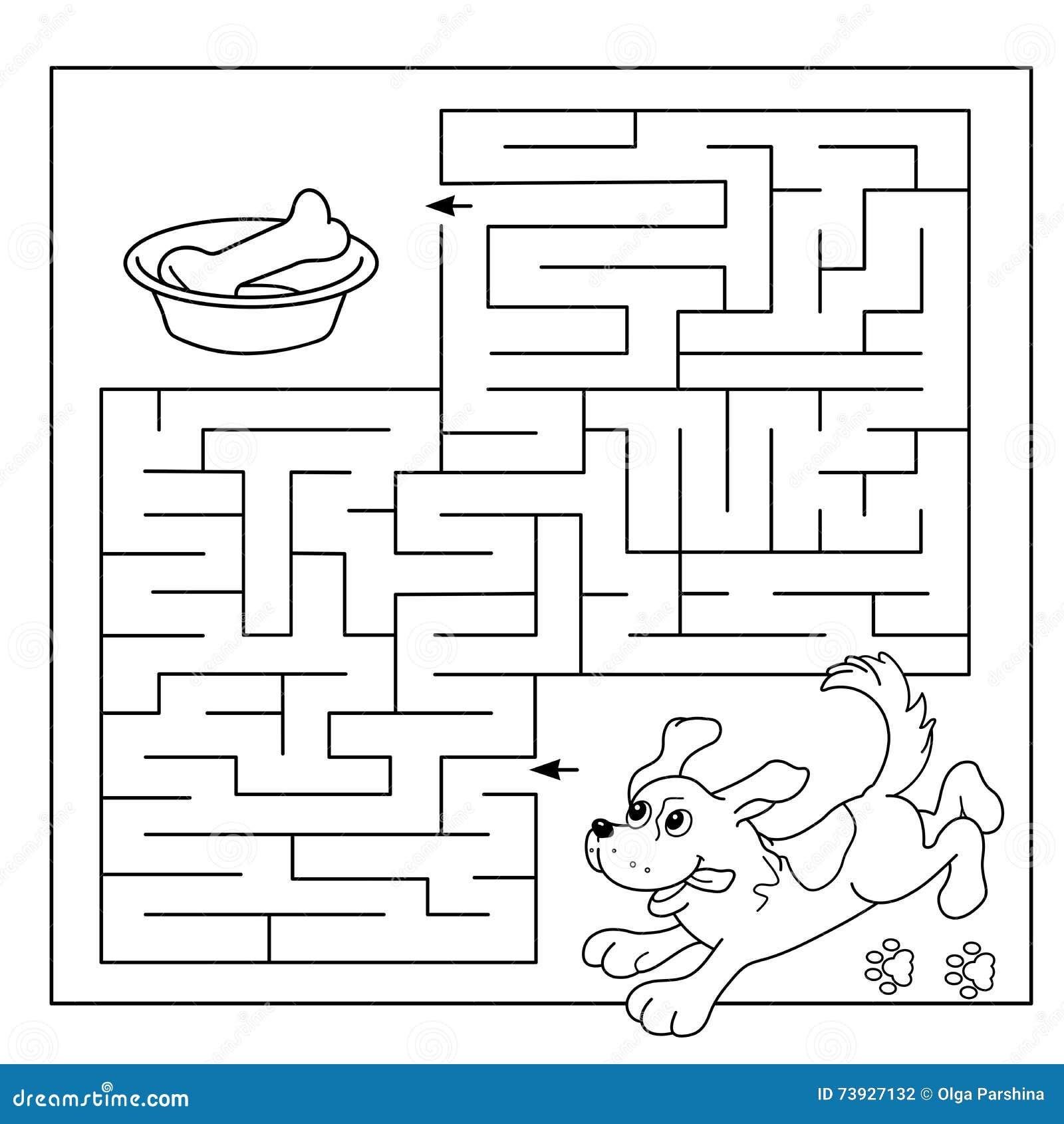 Bildungs-Labyrinth Oder Labyrinth-Spiel Für Vorschulkinder ...