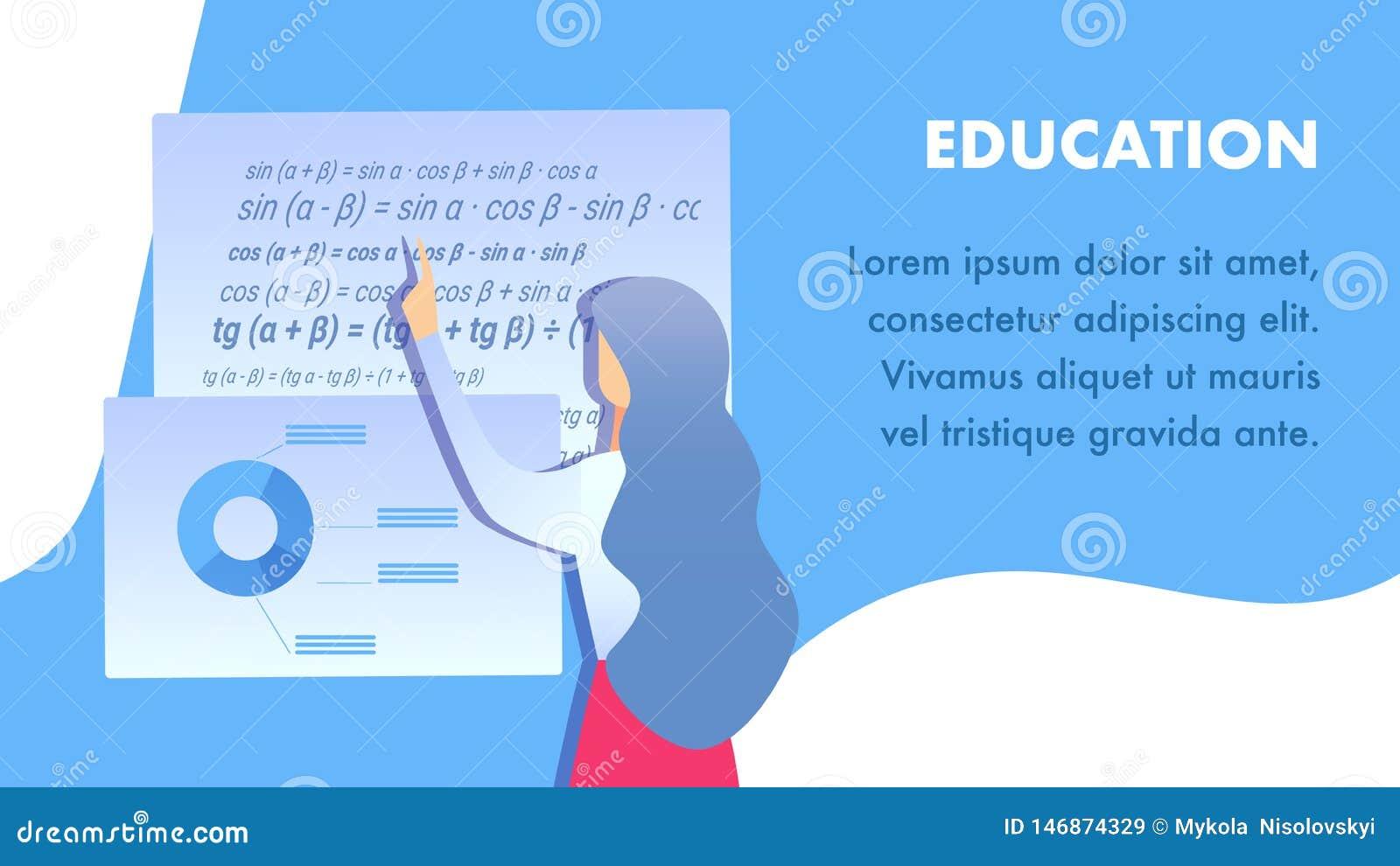 Bildungseinrichtungs-flacher Fahnen-Vektor-Plan