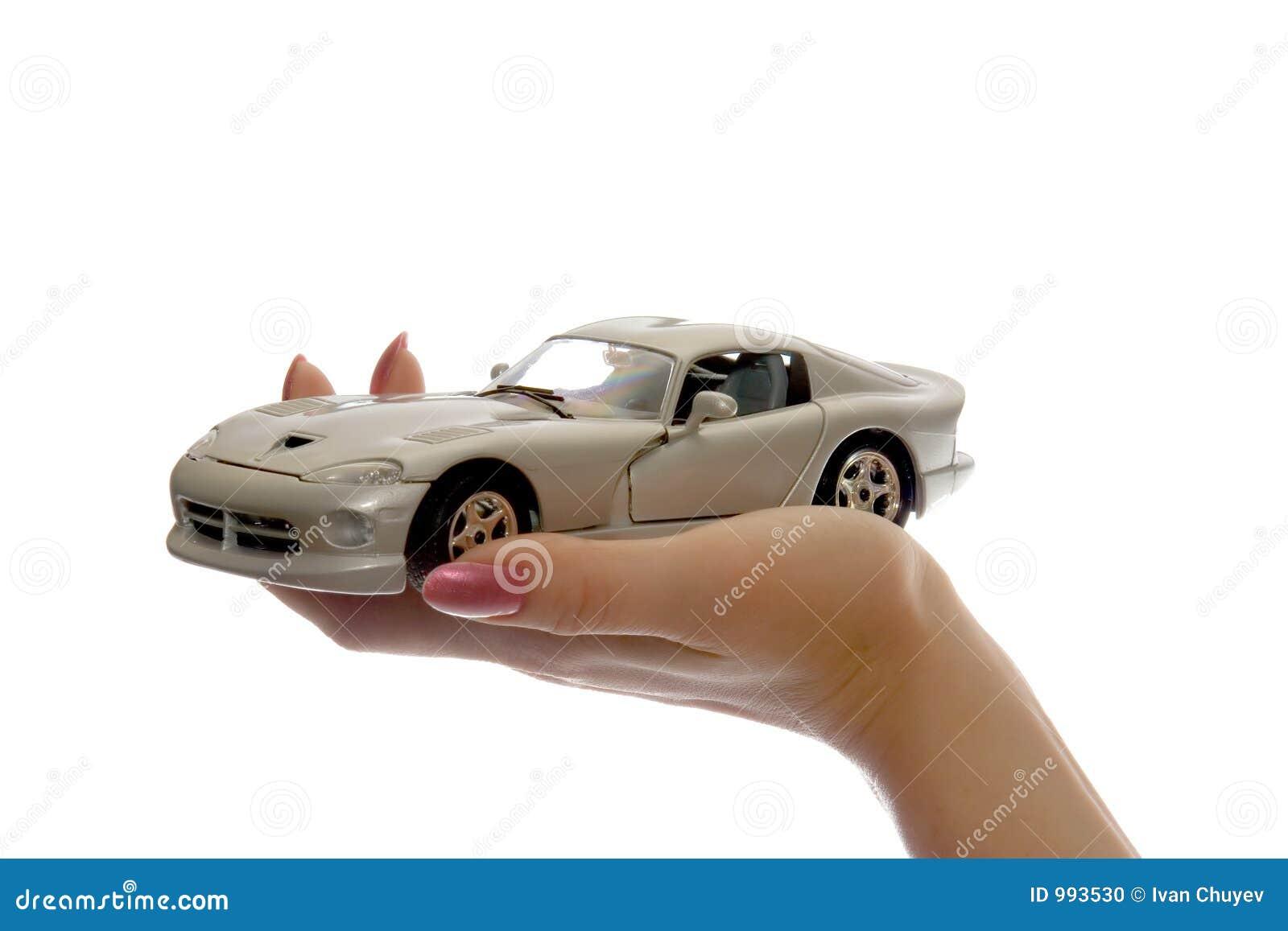 Bilen gömma i handflatan toyen