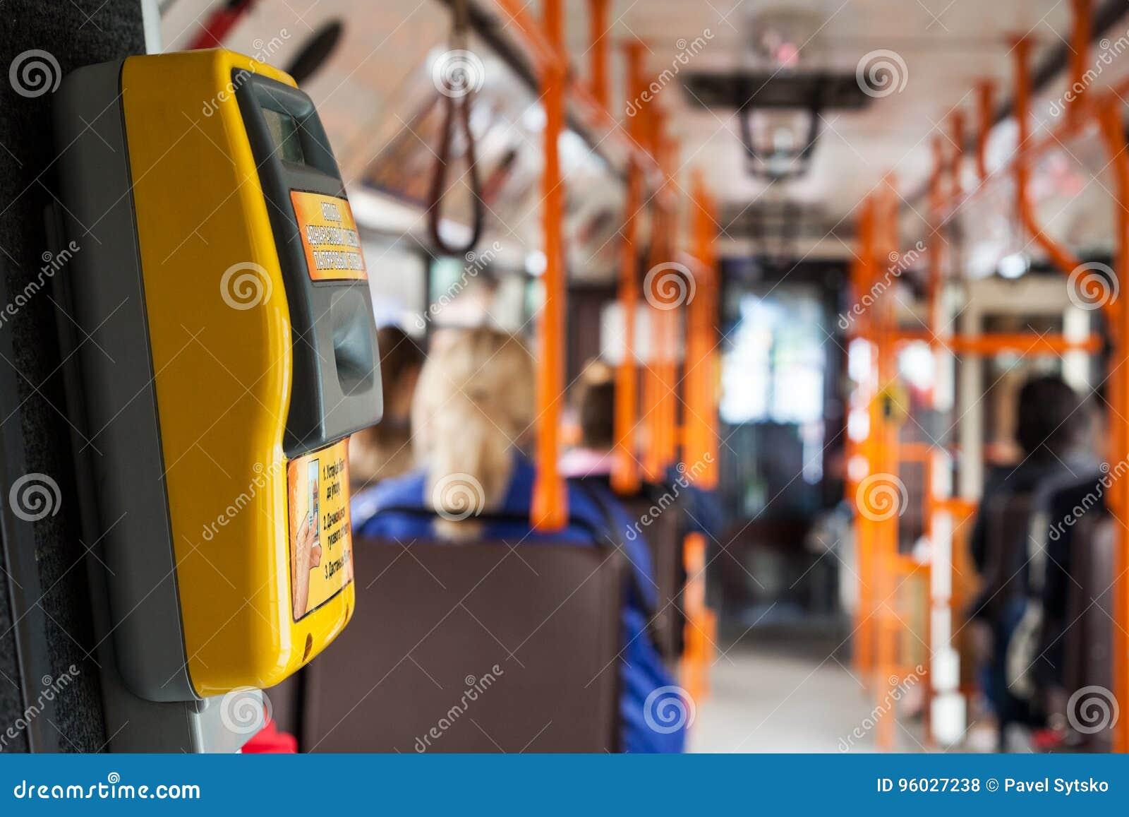 Bileta validator na transportu publicznego autobusie