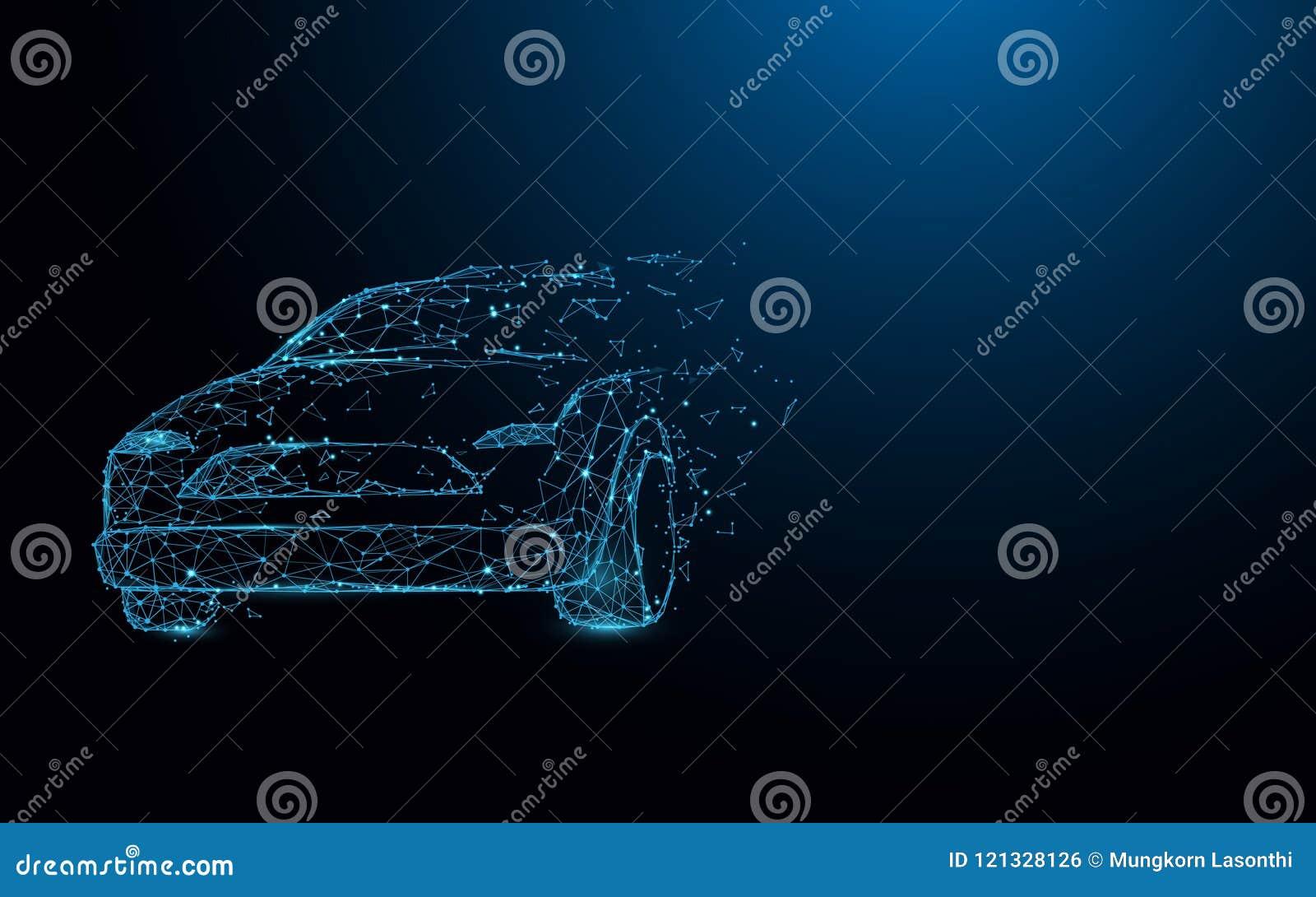 Bilformen fodrar, trianglar och partikelstildesignen