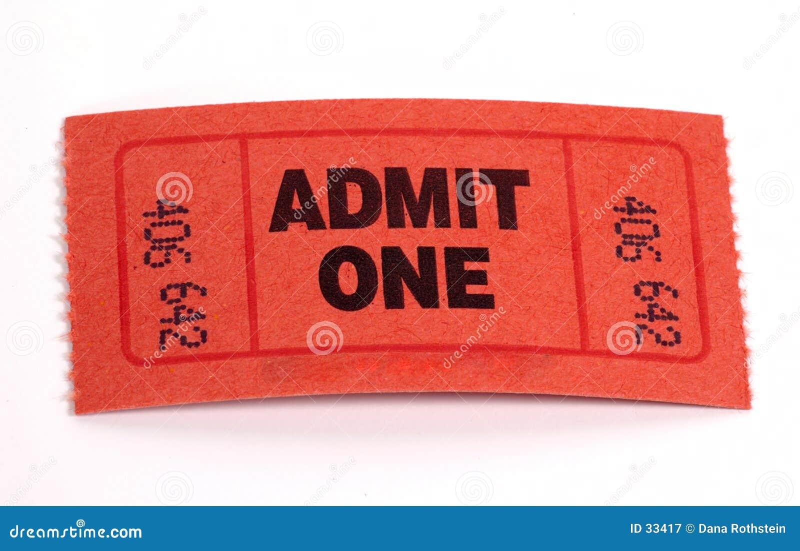 Bilhete da admissão