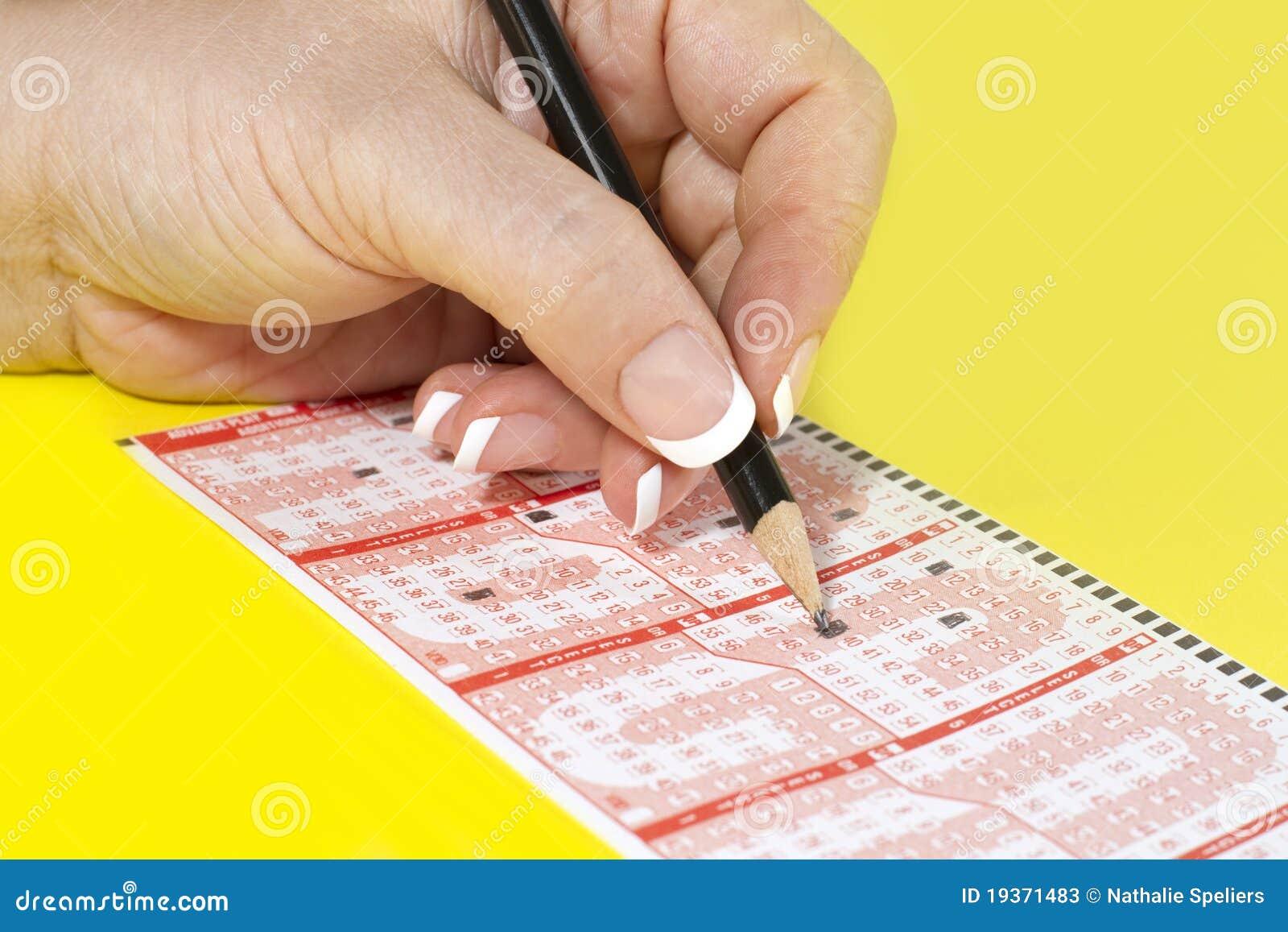 Bilhete de enchimento da lotaria