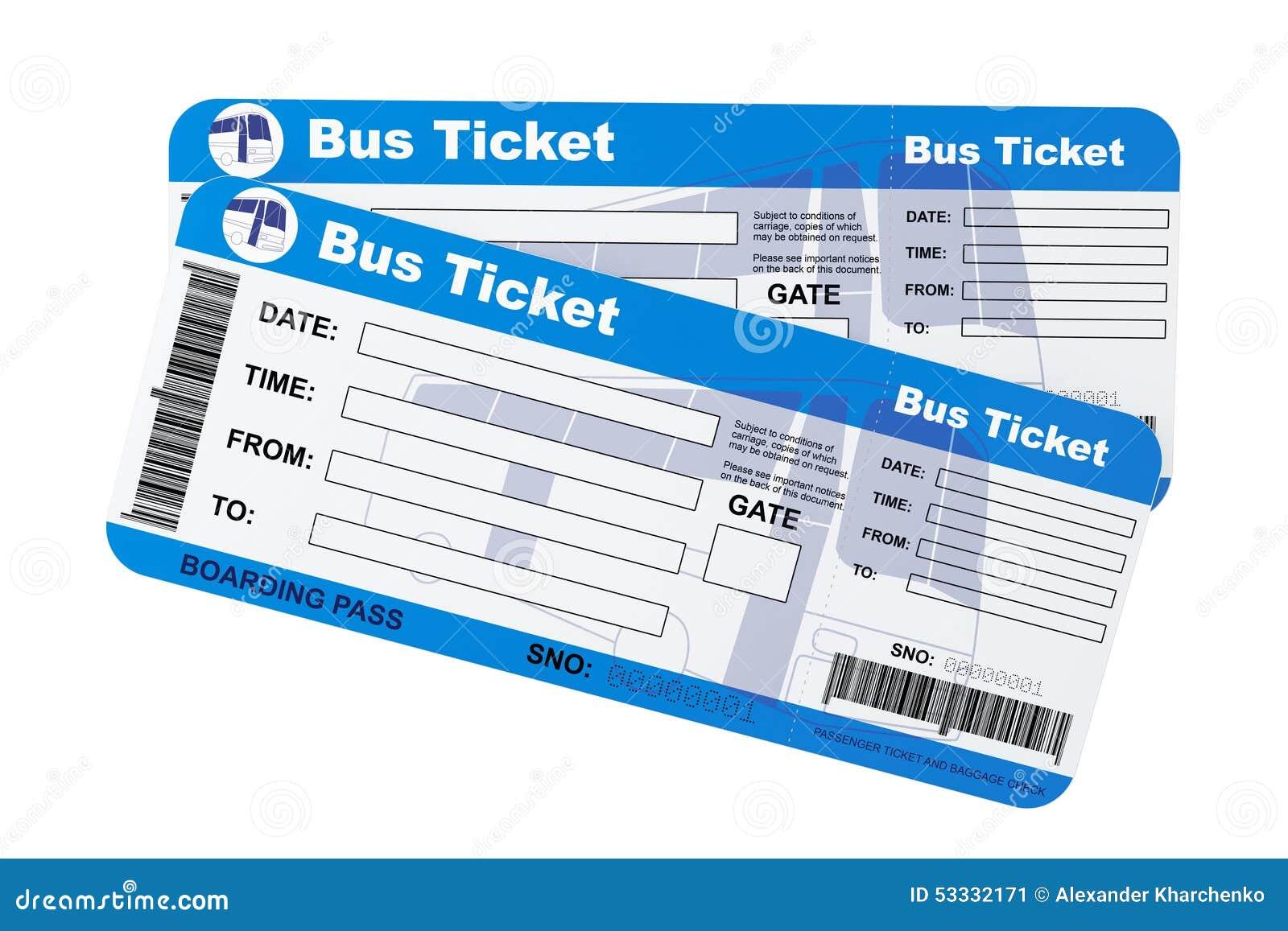 Bilhetes Da Passagem De Embarque Do ônibus Ilustração Stock - Ilustração de  tourism, sinal: 53332171
