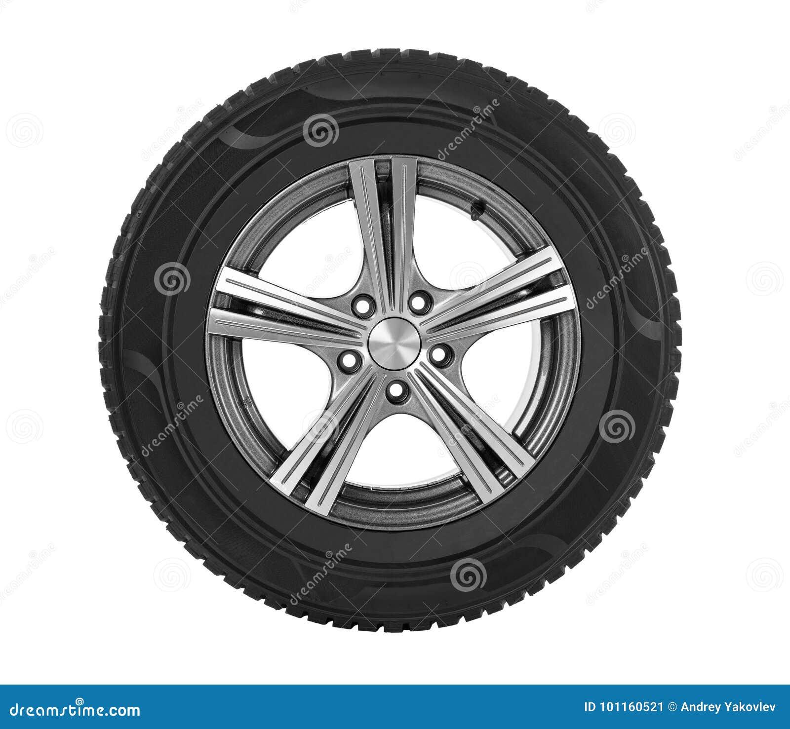 Bilhjul på vit