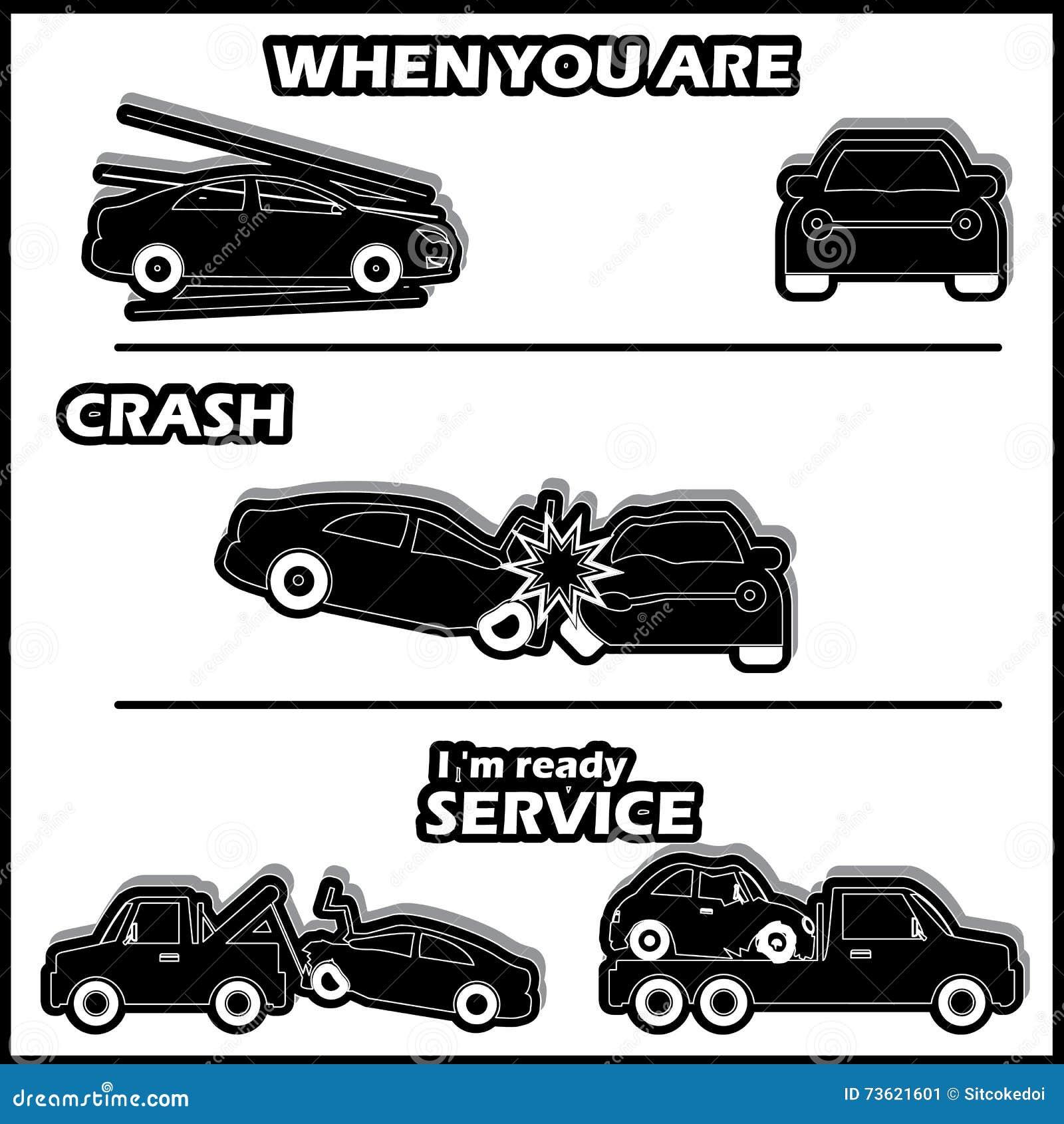 Bilkraschen var en olycka