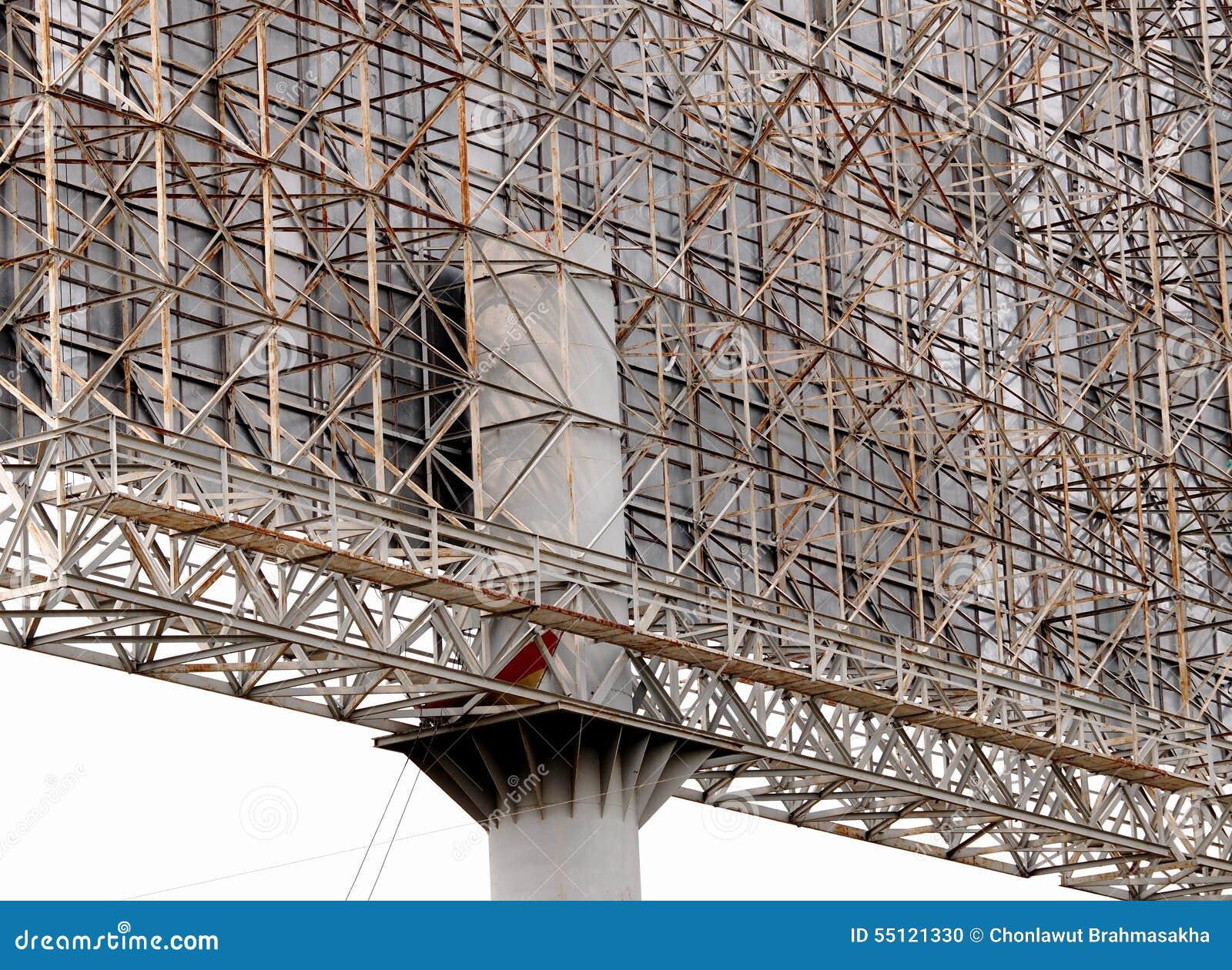 Rigid Steel Frame Construction Detail : Bill board stock photo image