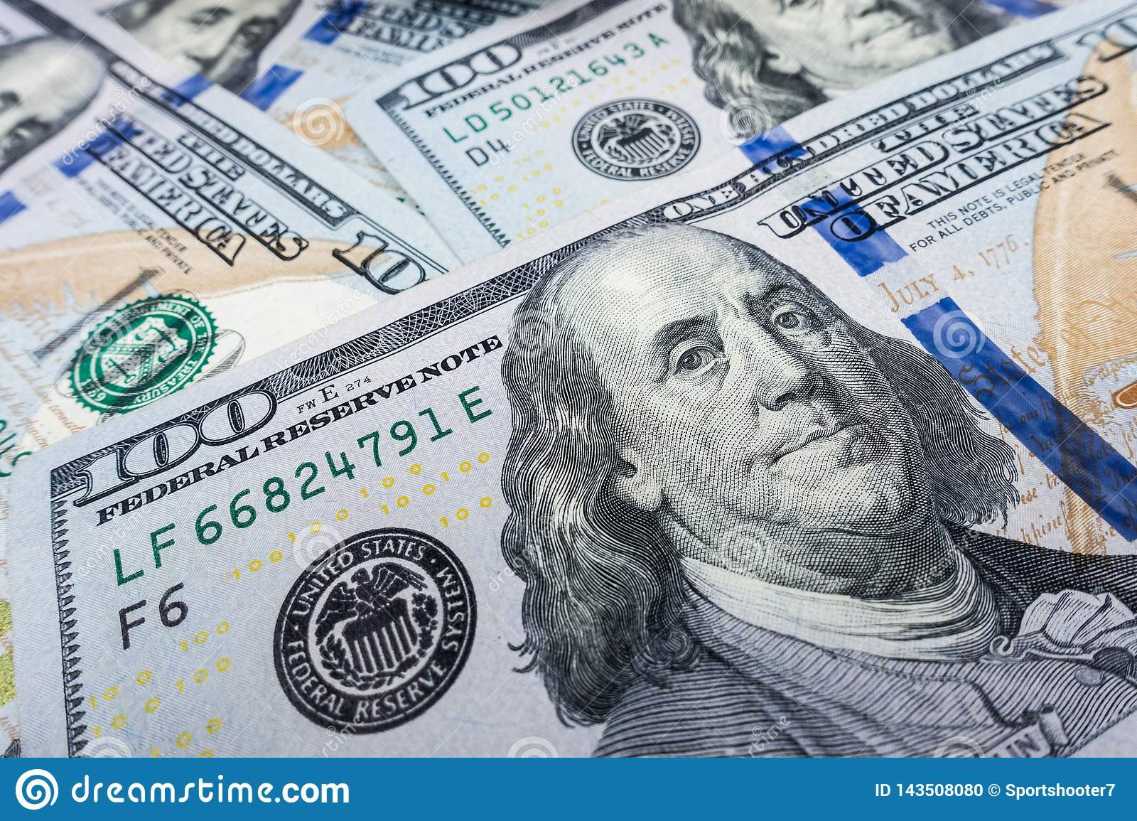 $100 bill  close-up. Wealth and finance concept.