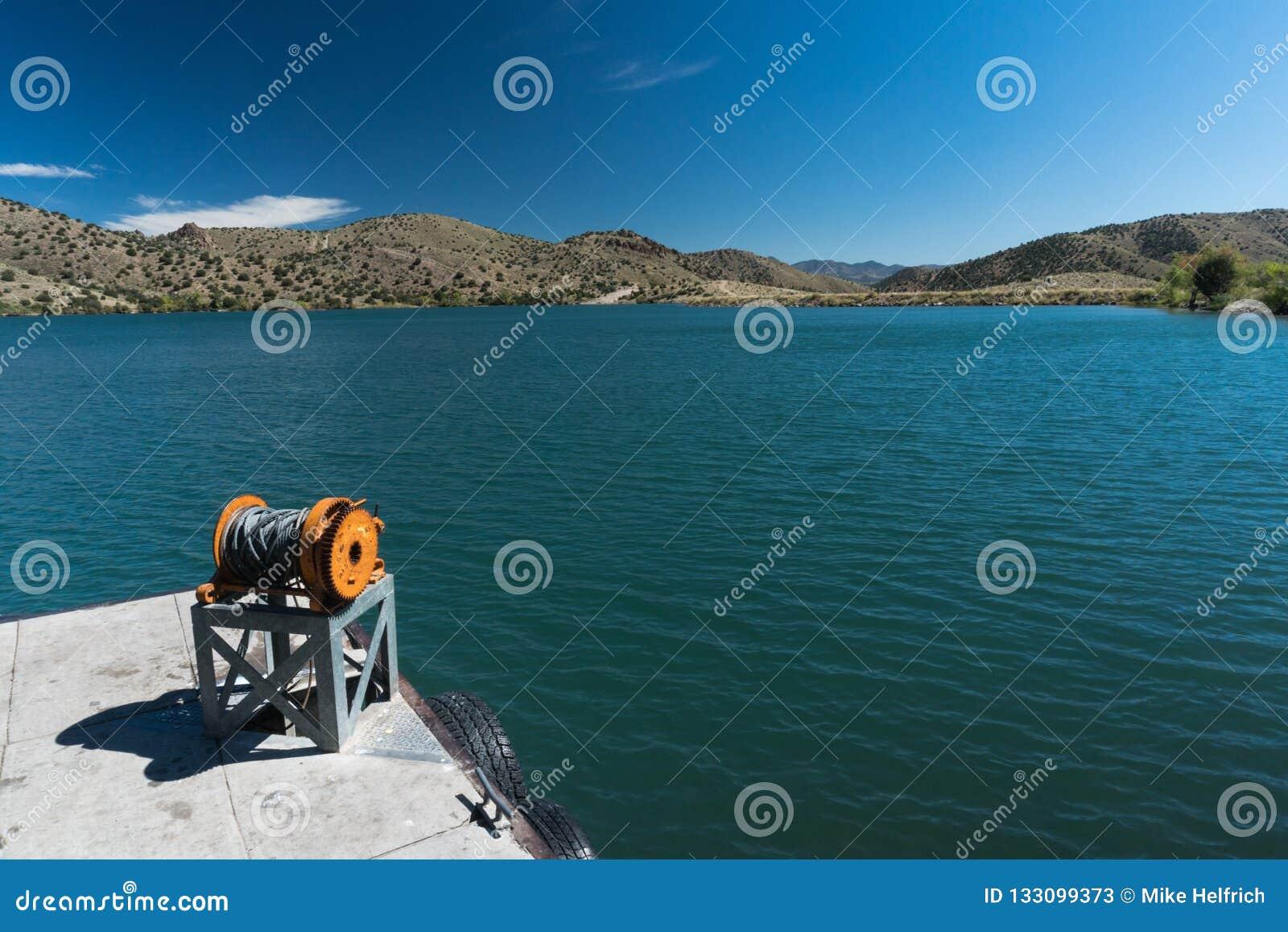 Bill Evans Lake dock near Silver City in New Mexico.