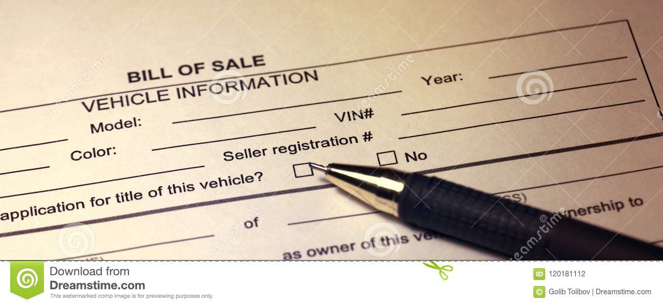 bill of sale toned image stock photo image of design 120181112