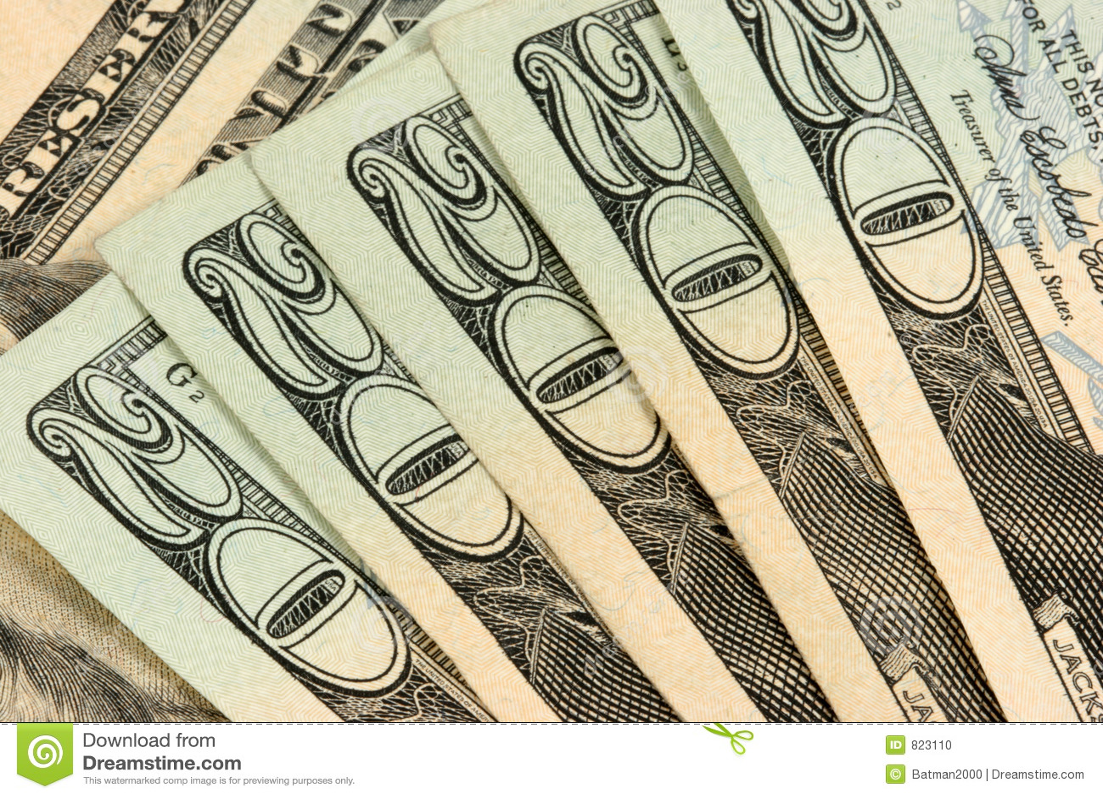 Bill ułożona 20 dolarów.