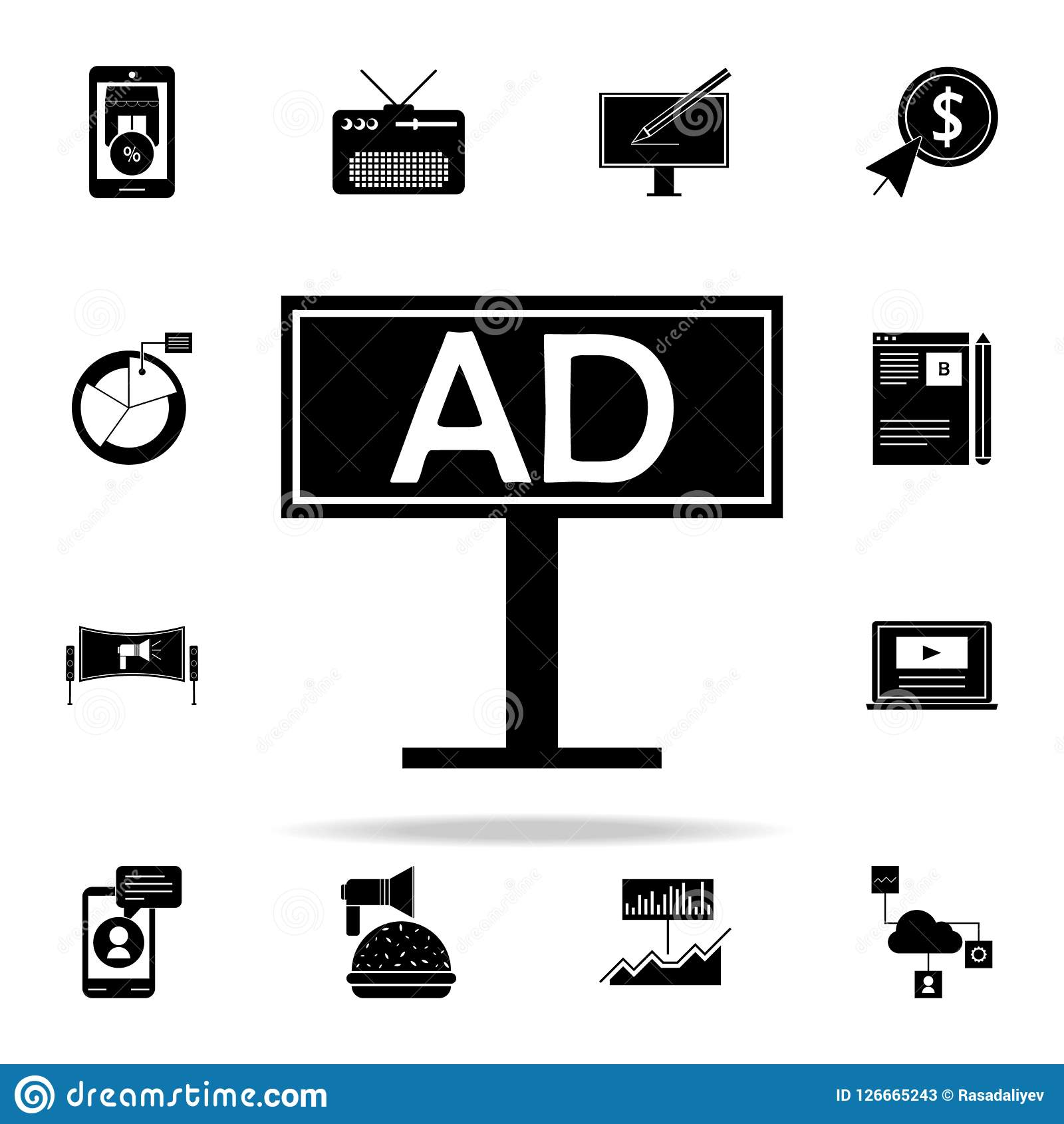 Billboard Advertising Icon  Digital Marketing Icons