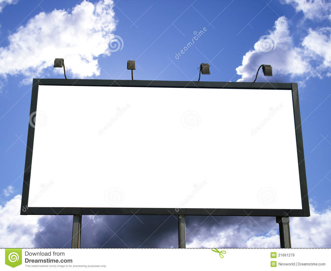 billboard blank stock image image of cloud business