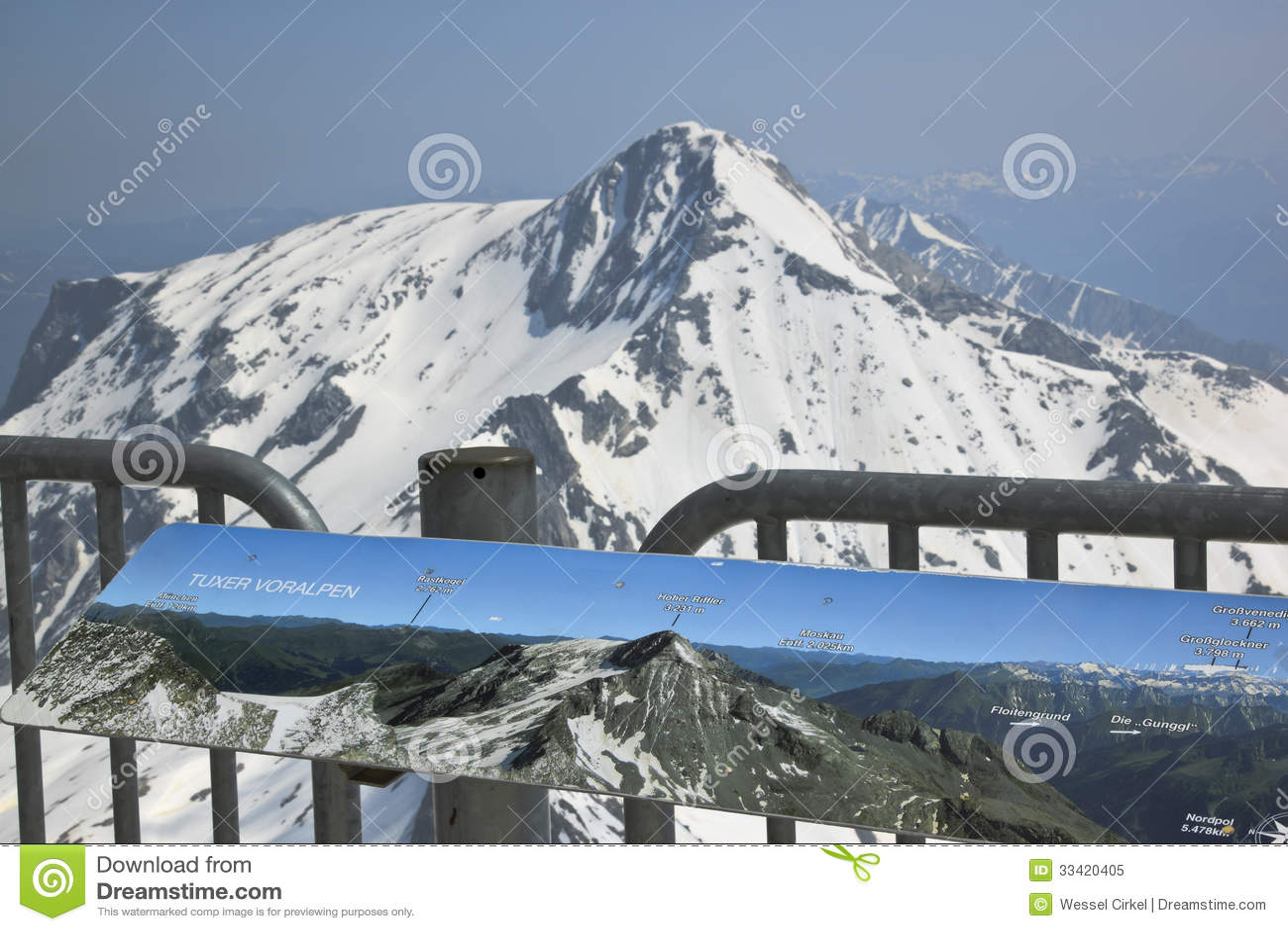Hintertux Glacier Austria  city images : billboard hintertux glacier austria snow capped mountains around ...