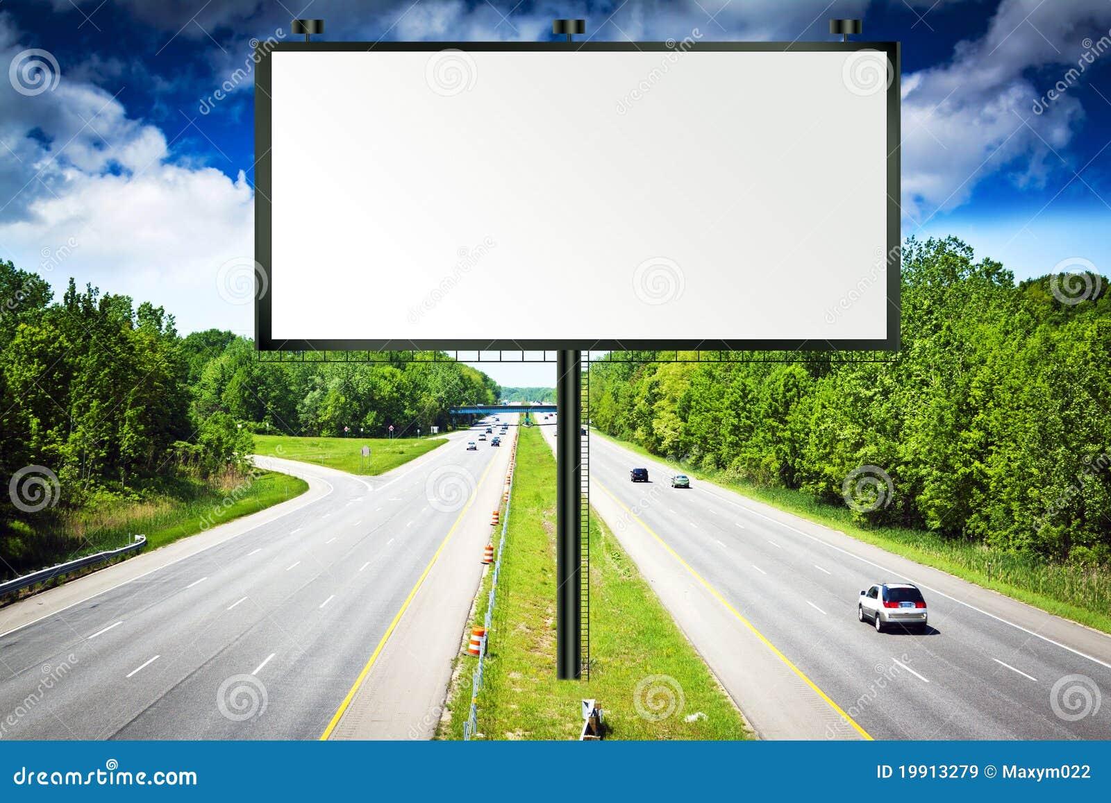 Billboard with Stormy Sky