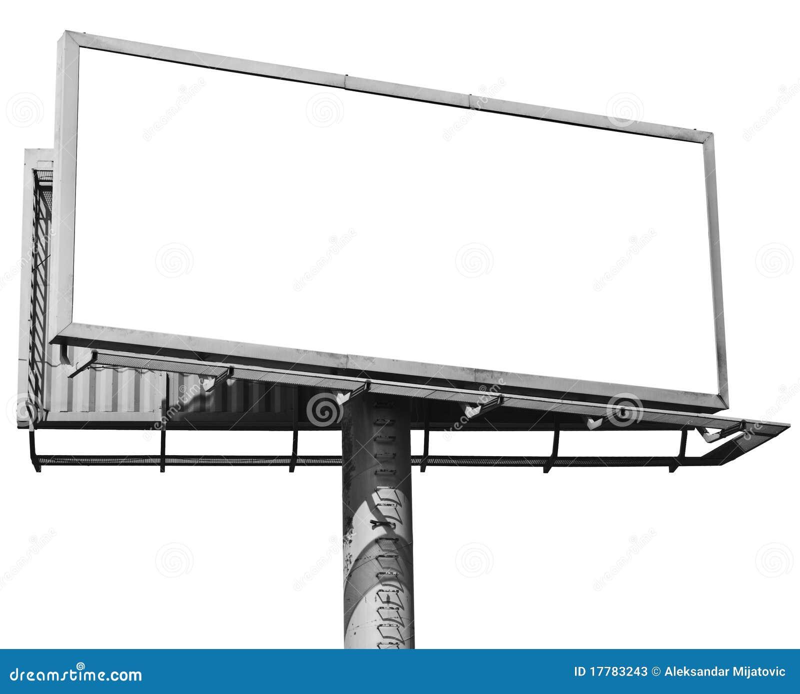 Billboardu odosobniony pusty