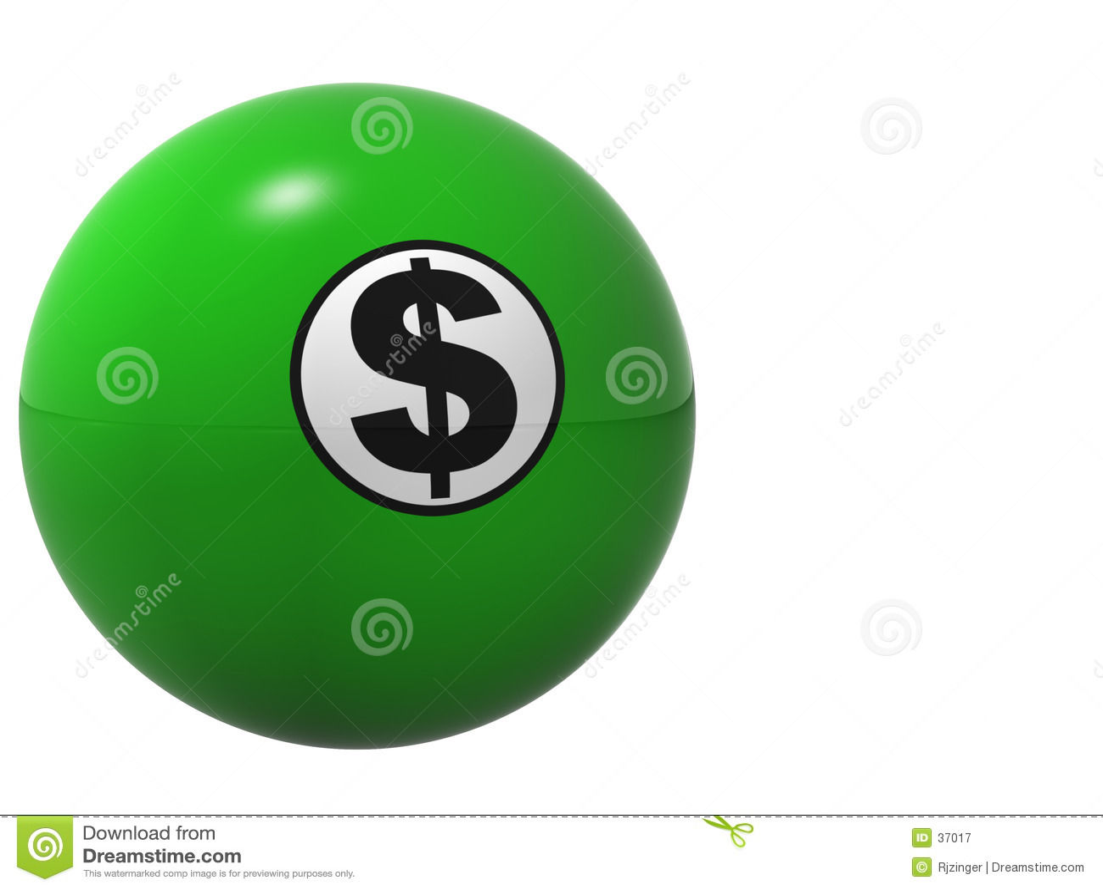 Bille de Billard de signe du dollar