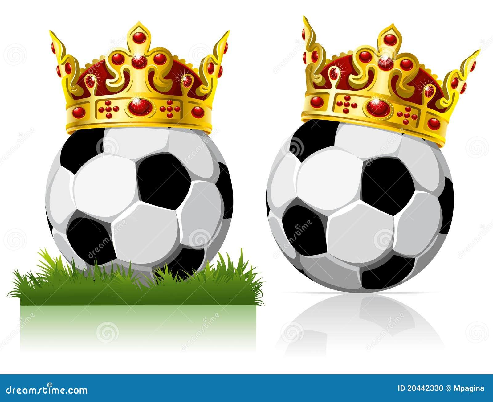 Bille de football avec une tête d or